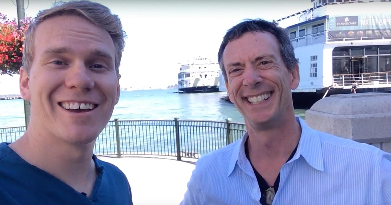 Dylan Higginbotham - Founder of Stupid Raisins, with Motion guru Mark Spencer of Ripple Training.