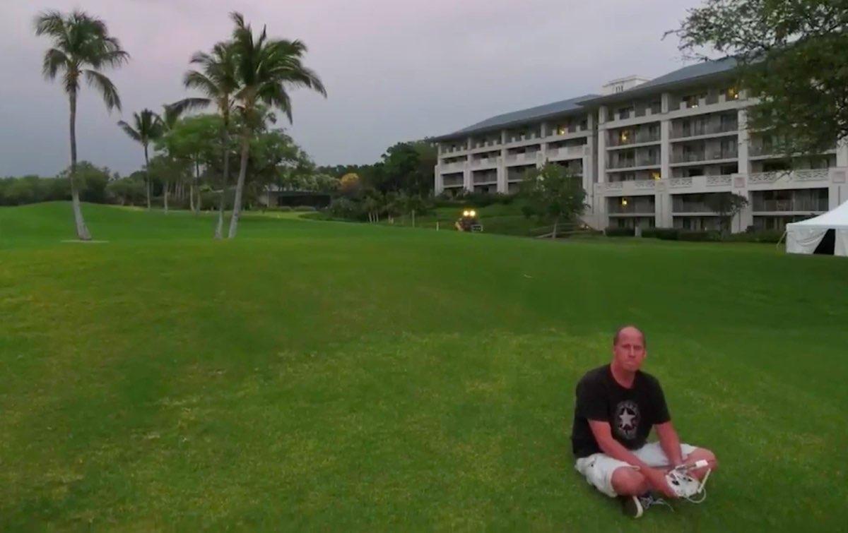 Chris Fenwick flies a DJI Phantom 4 in Hawaii