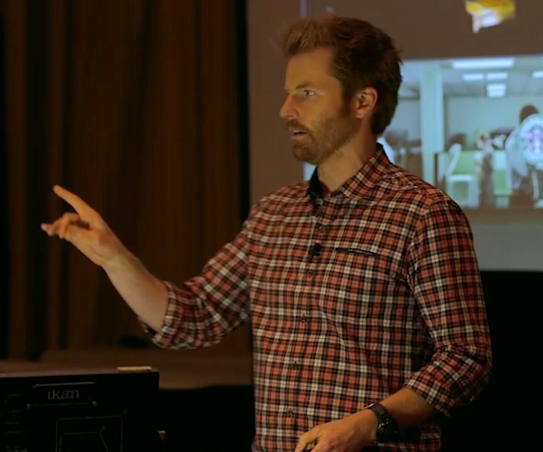 Alex Buono teaching at the Art of Visual Storytelling 2 workshop.