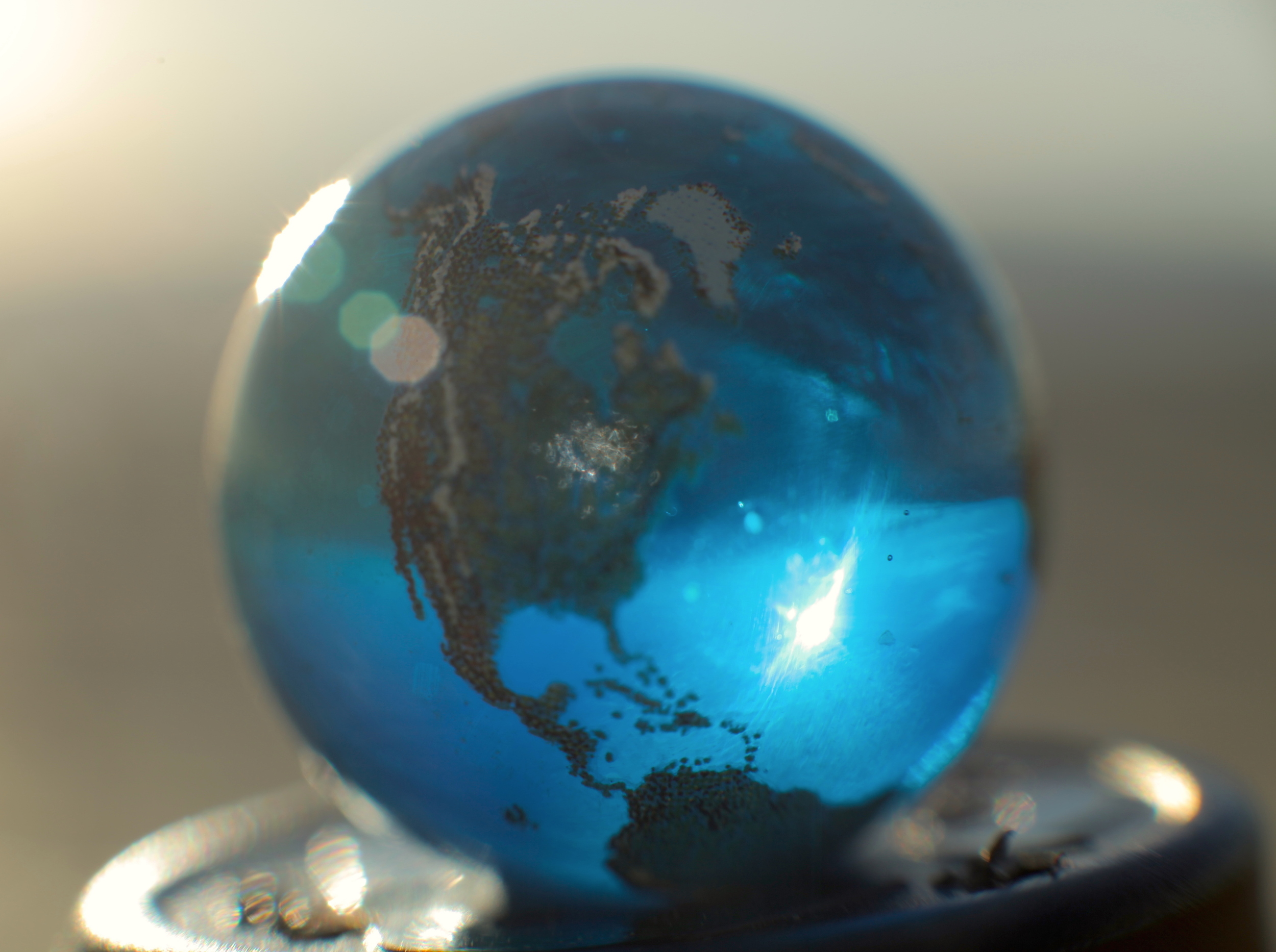 Blue Marble from To Scale: The Solar System. All other models built to scale to this beautiful marble model of the Earth.
