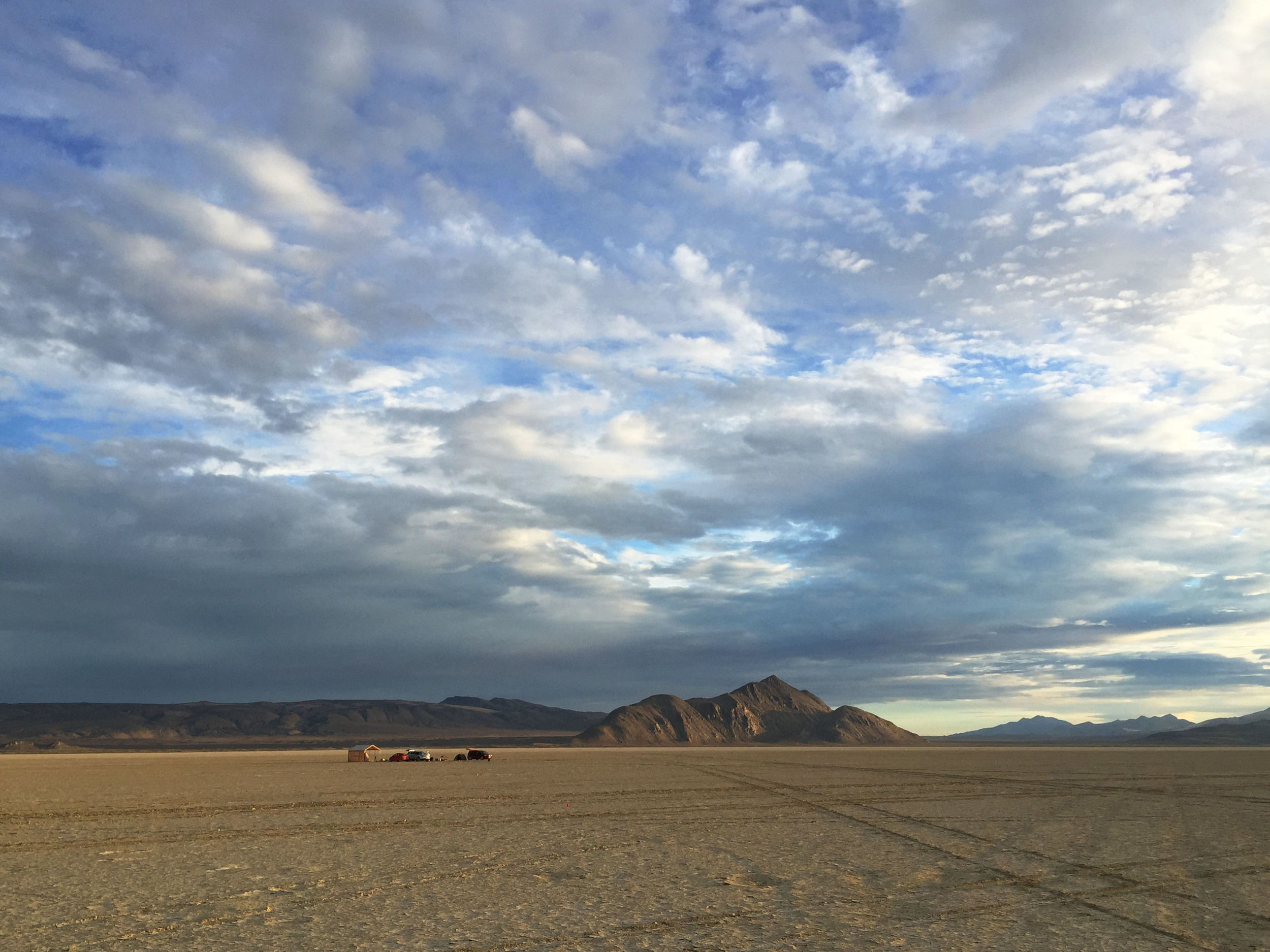 Black Rock Desert - location of filming To Scale: The Solar System.