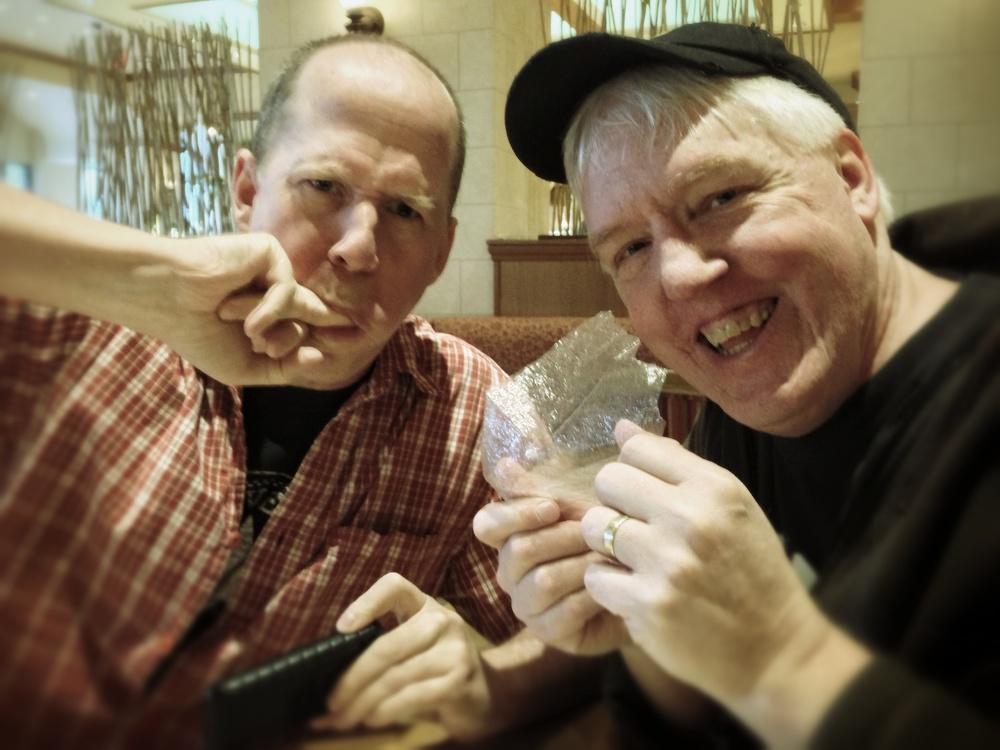 Chris Fenwick and Mitch Aunger do the CrumplePop stinger.