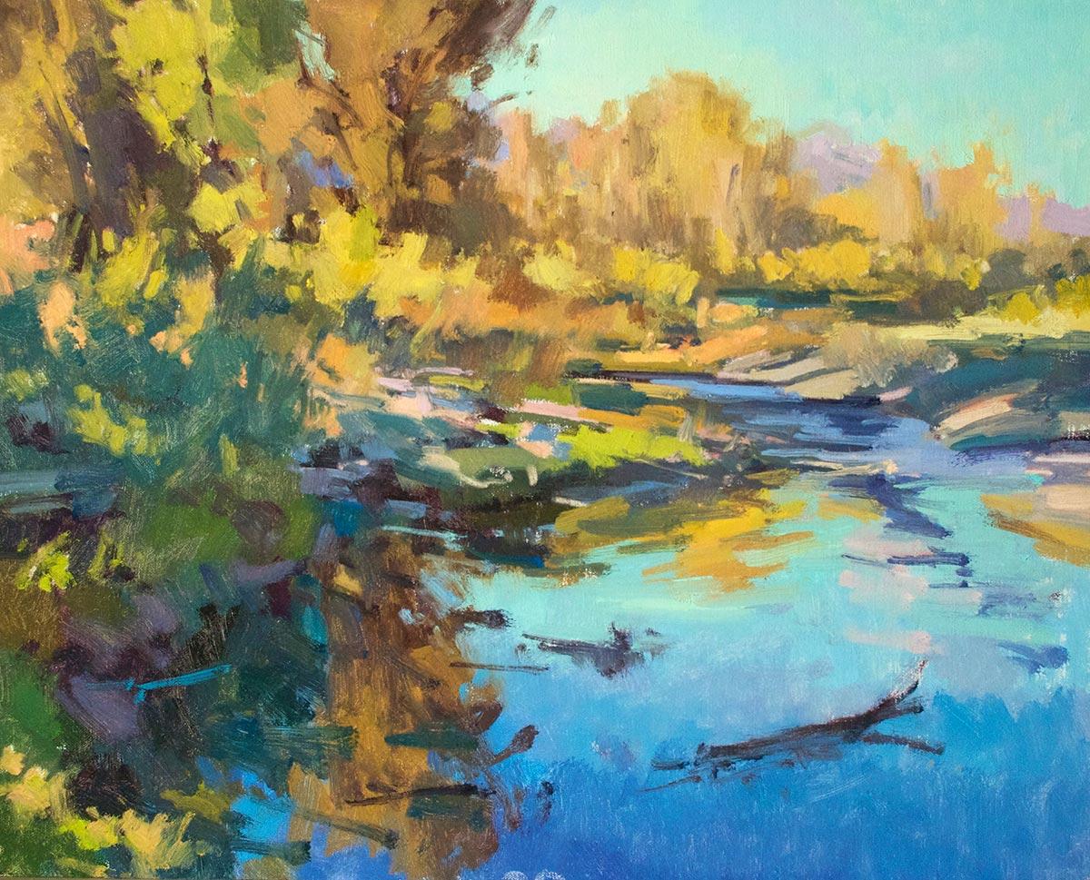 Along the Snake River, 16x20 oil, by Jill Carver