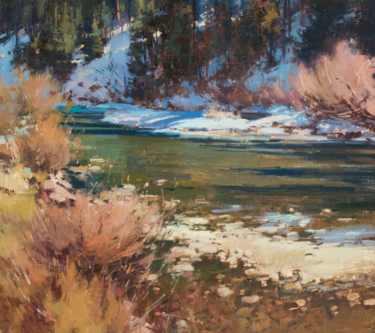 Fall's Last Serenade, 24x27 oil, by Jill Carver