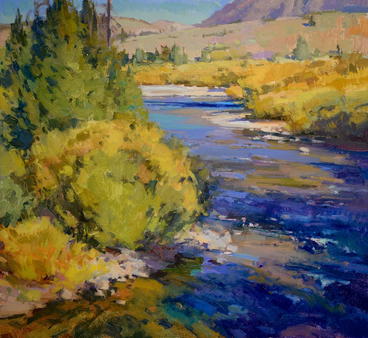 High Country Creek, 21x23 oil, by Jill Carver