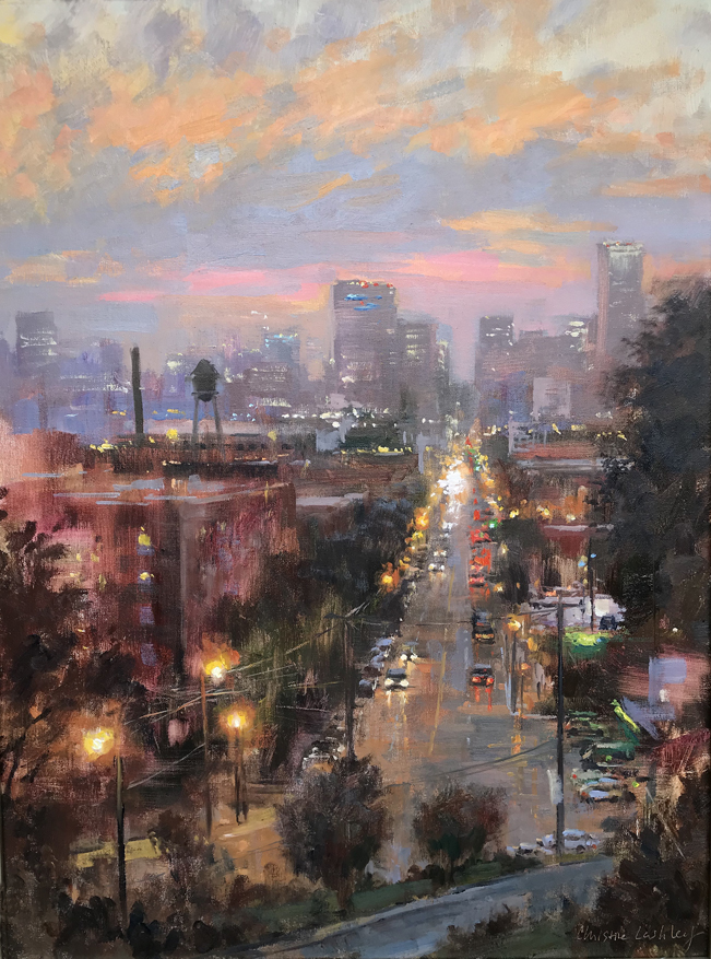 Twilight Libby Hill | Oil | © Christine Lashley