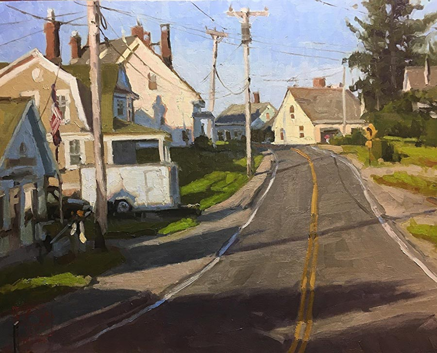 Afternoon in Port Clyde | oil on linen | 16 x 20 | © David Boyd, Jr.