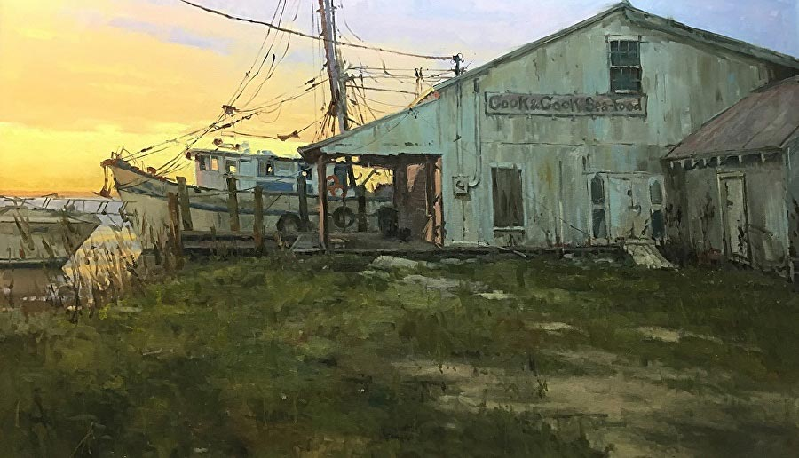 Cook and Cook | oil on gallery wrap | 36 x 60 | © David Boyd, Jr.