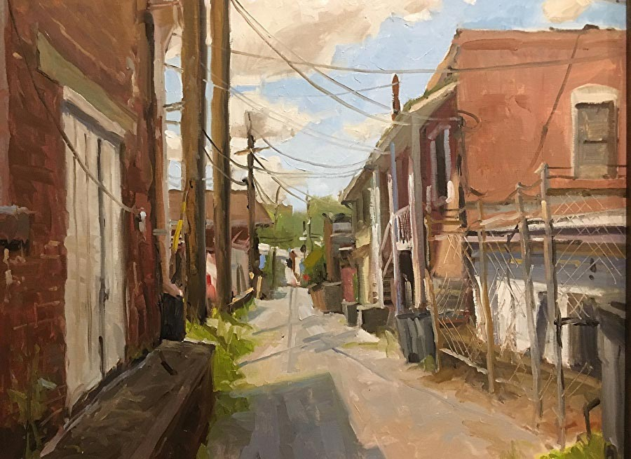 Alley, Manchester | oil | 16 x 20 | © David Boyd, Jr.