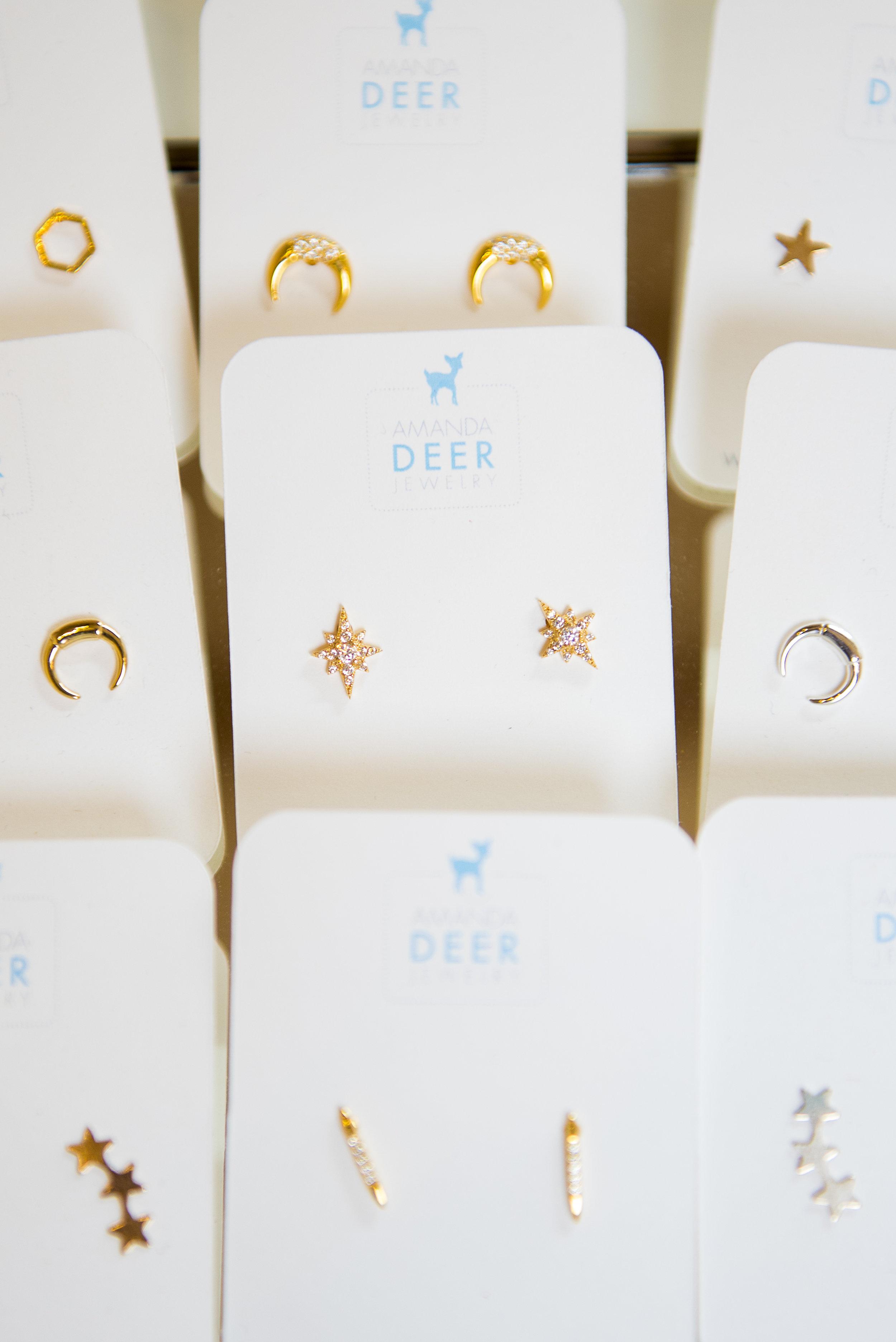 Delicate Amanda Deer earrings