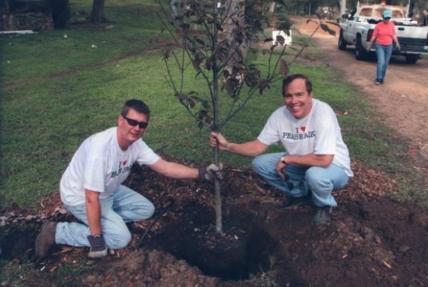 Trees for Pease's Richard Craig (r) and The Trail Foundation's Charlie McCabe