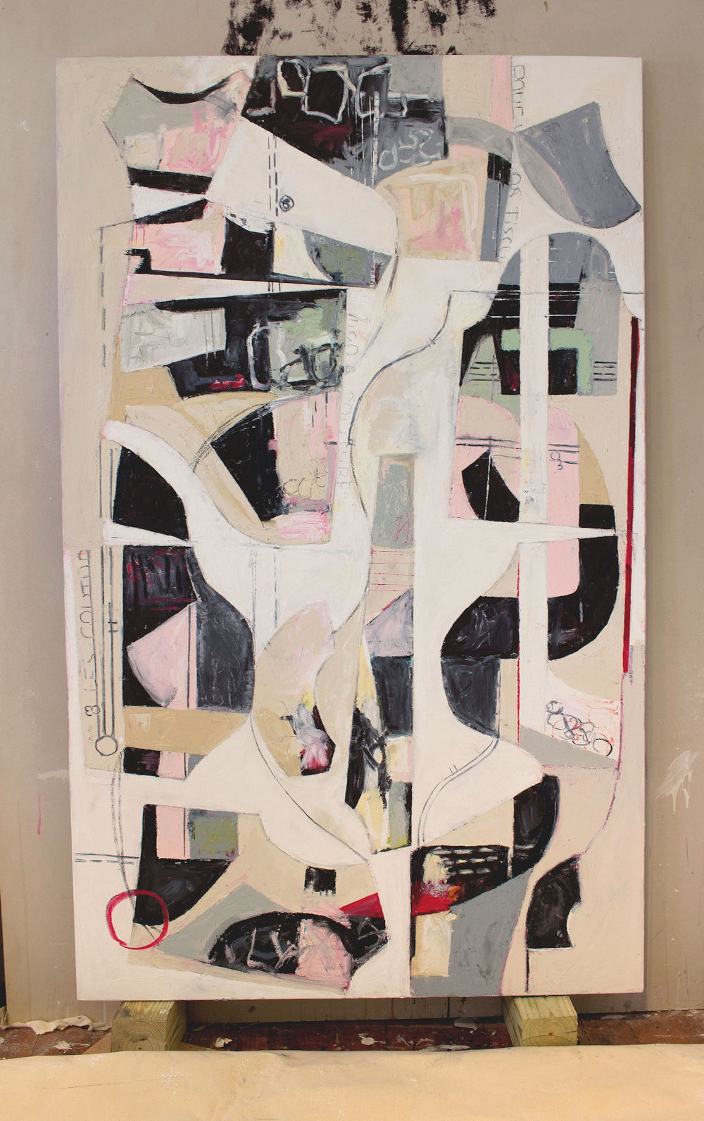 "Deconstructed Slim - 80"" x 40"" Oil on canvasThis piece has been sold"