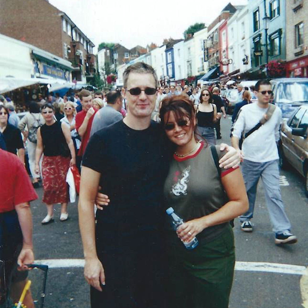 Portobello Road in London with the guy who ignited all my art and love flames in the 2000s.