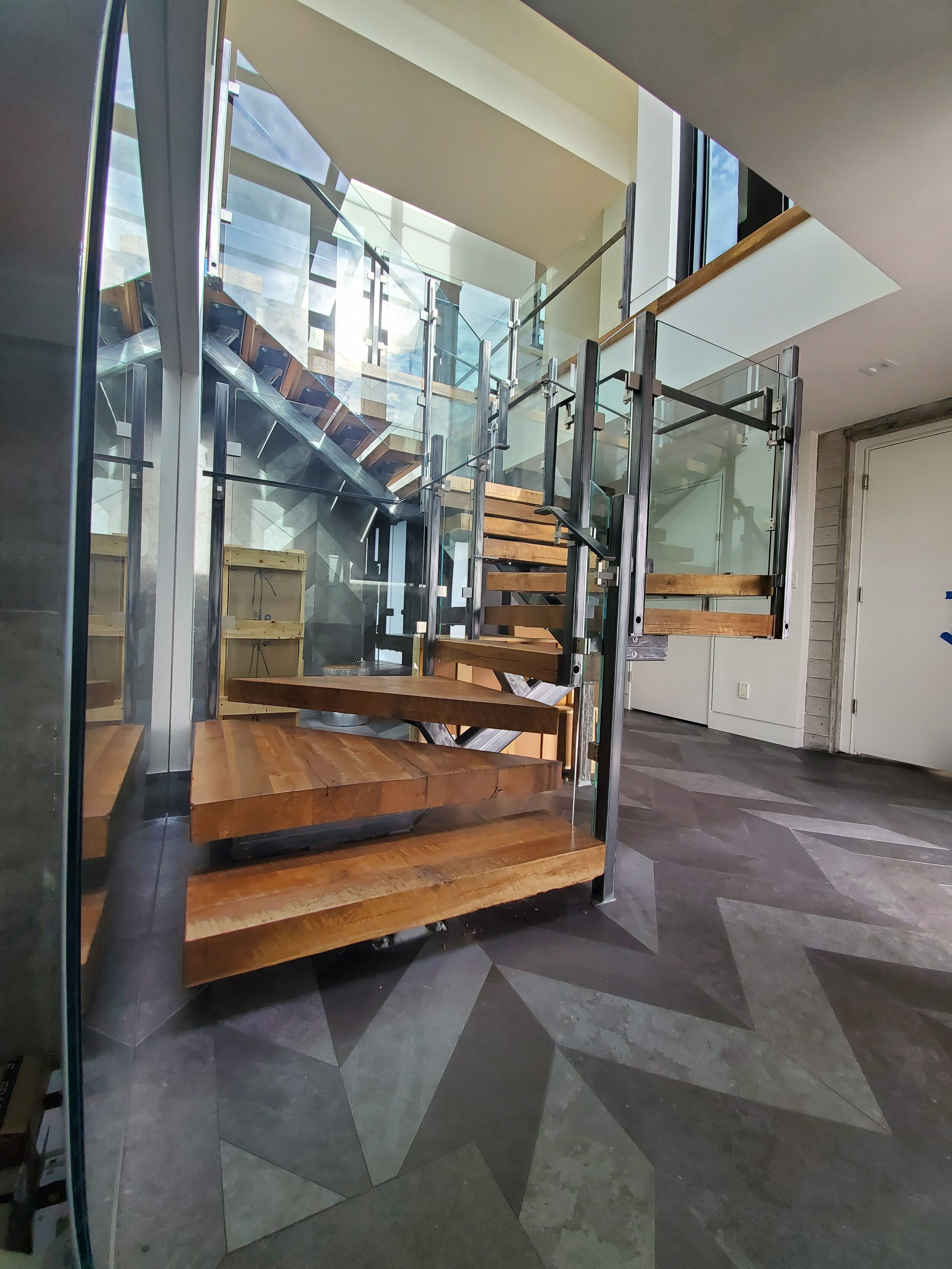 Project Completion with our Wood and Glass