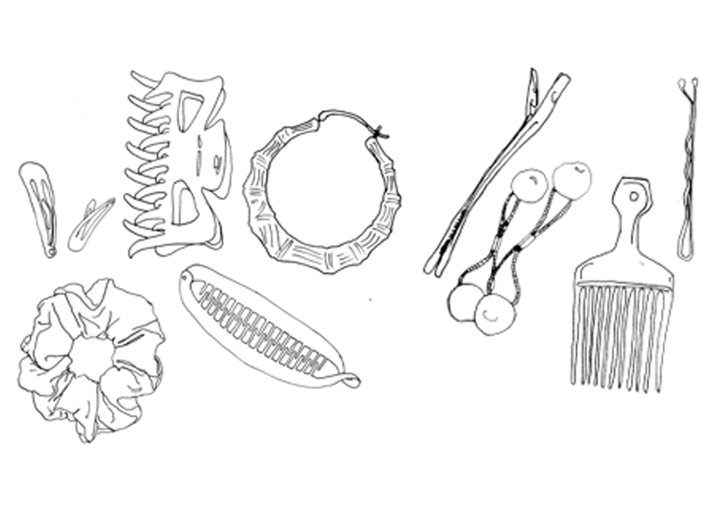 Sketches of childhood objects