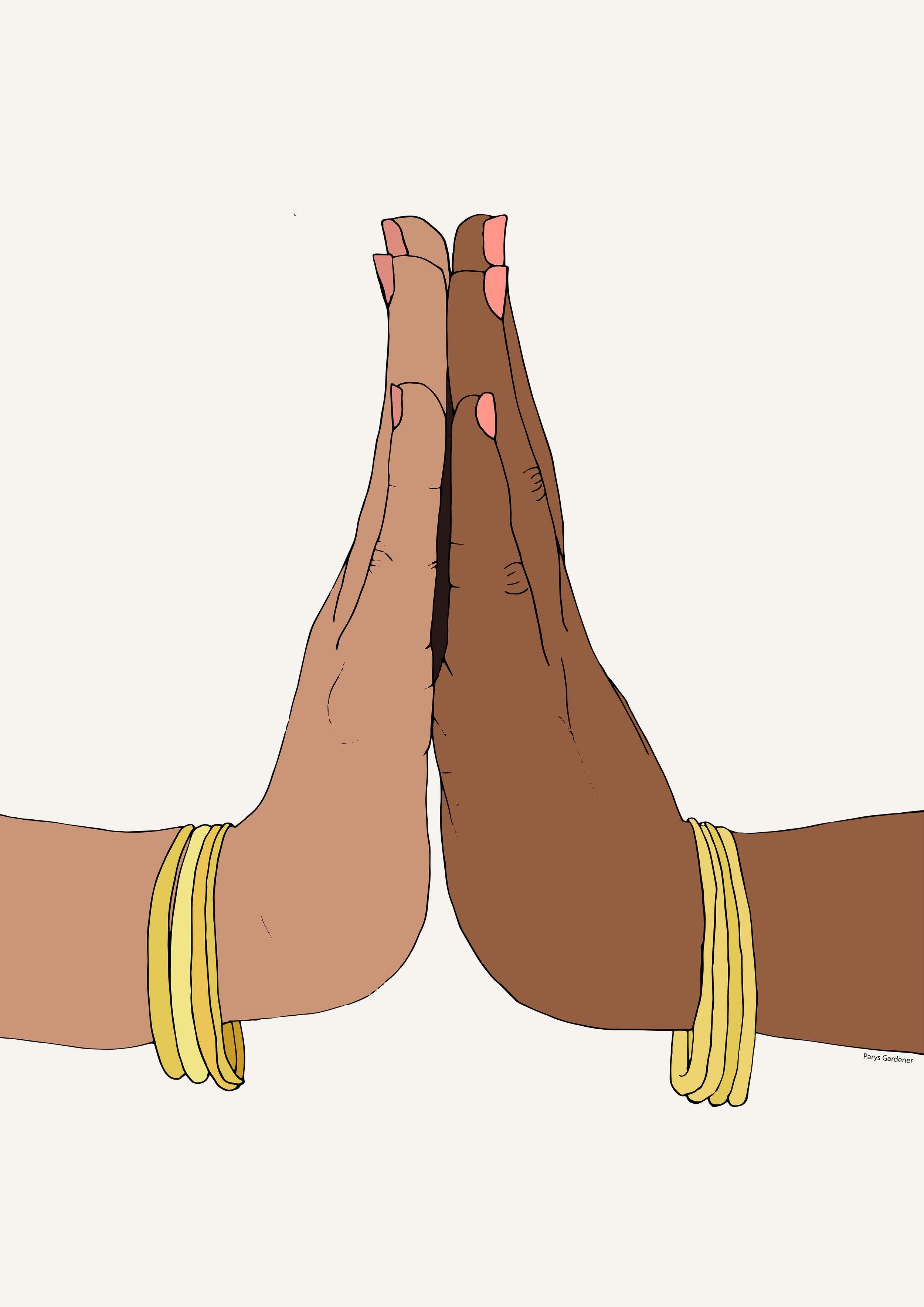 Healing Hands (Dismantling Colourism) parysgardener art  digital illustrator