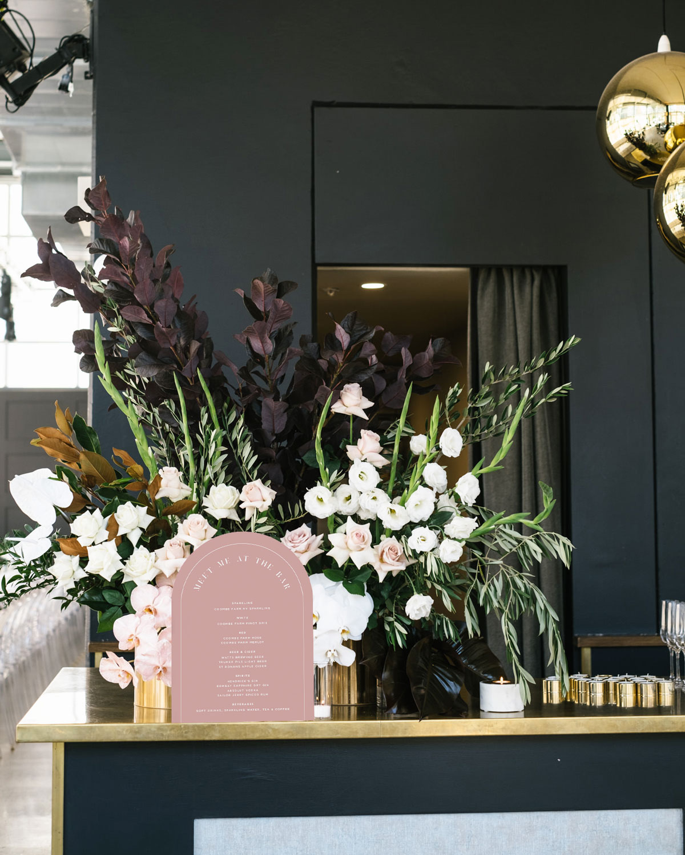 Arch Bar Menu - Rose