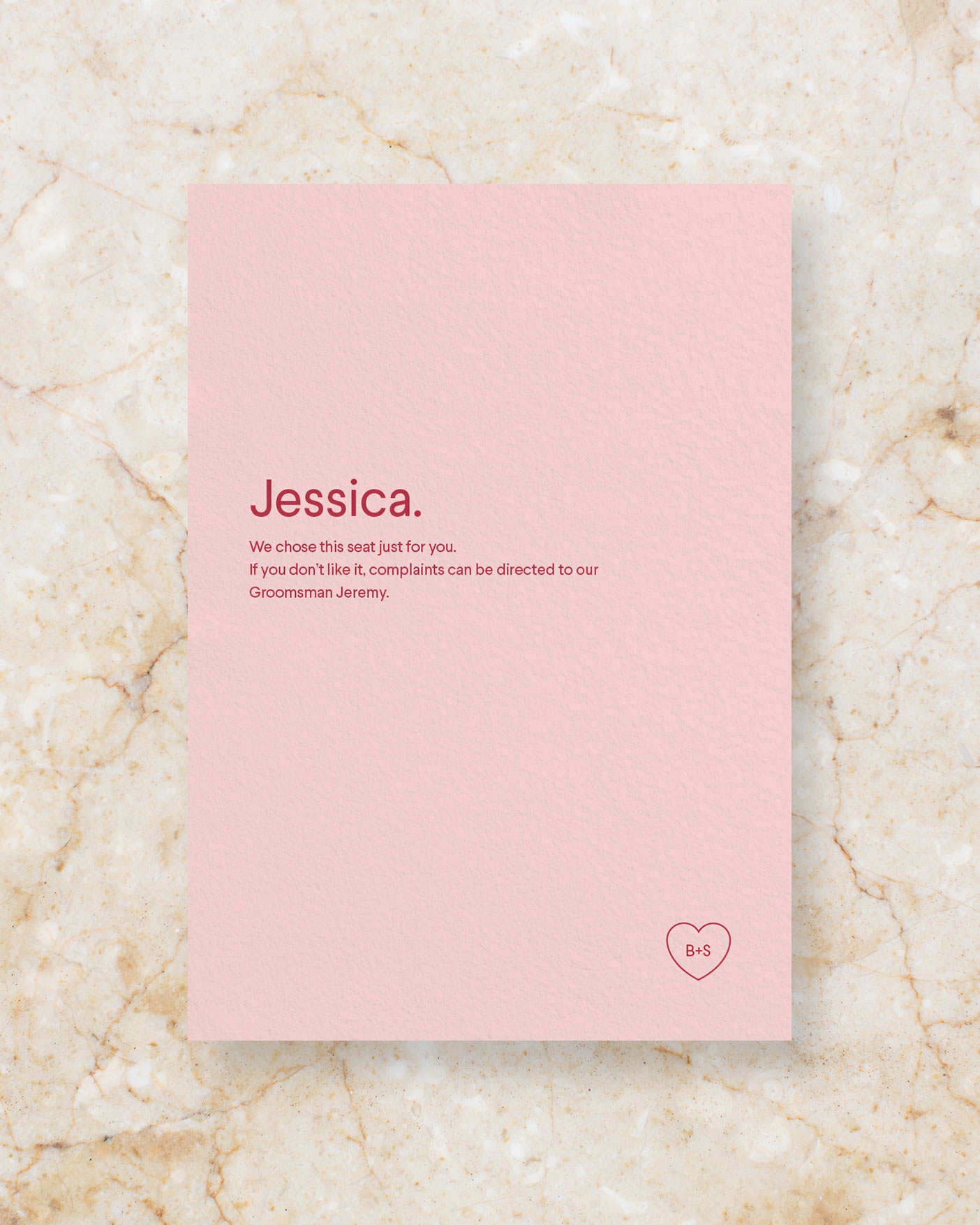 Personalised Menu A5 - Blush