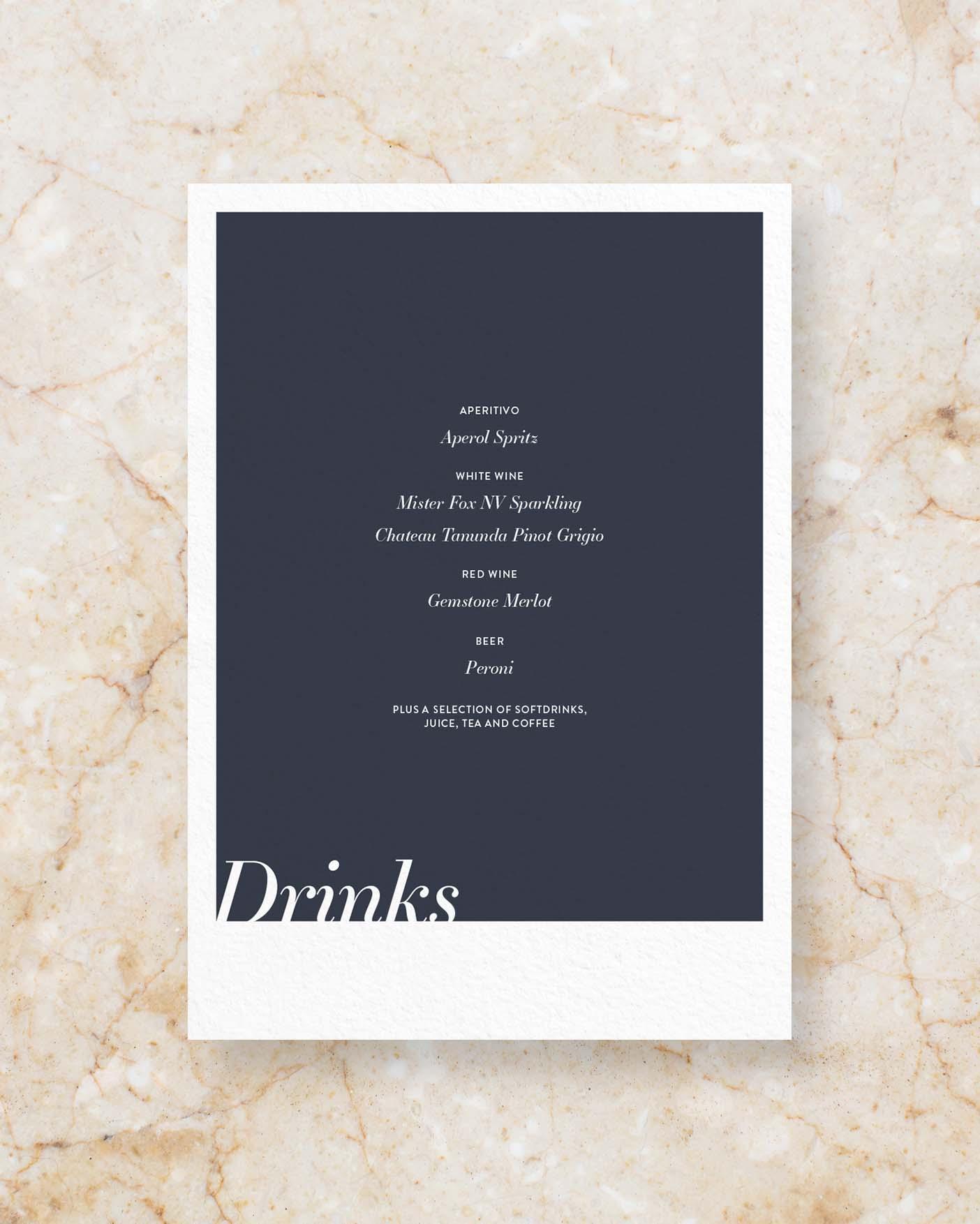 Drinks Menu II - Cobalt