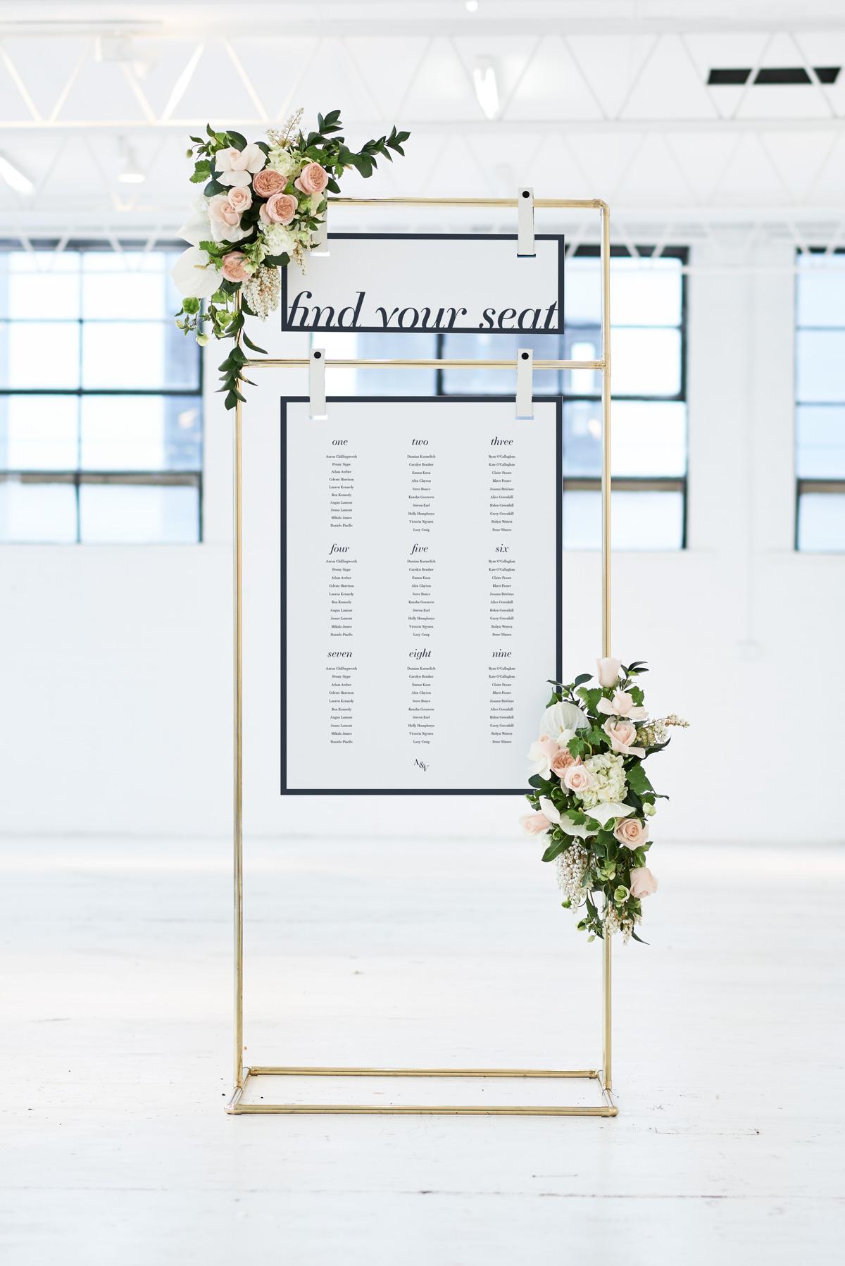 Seating Chart Floorplan - White