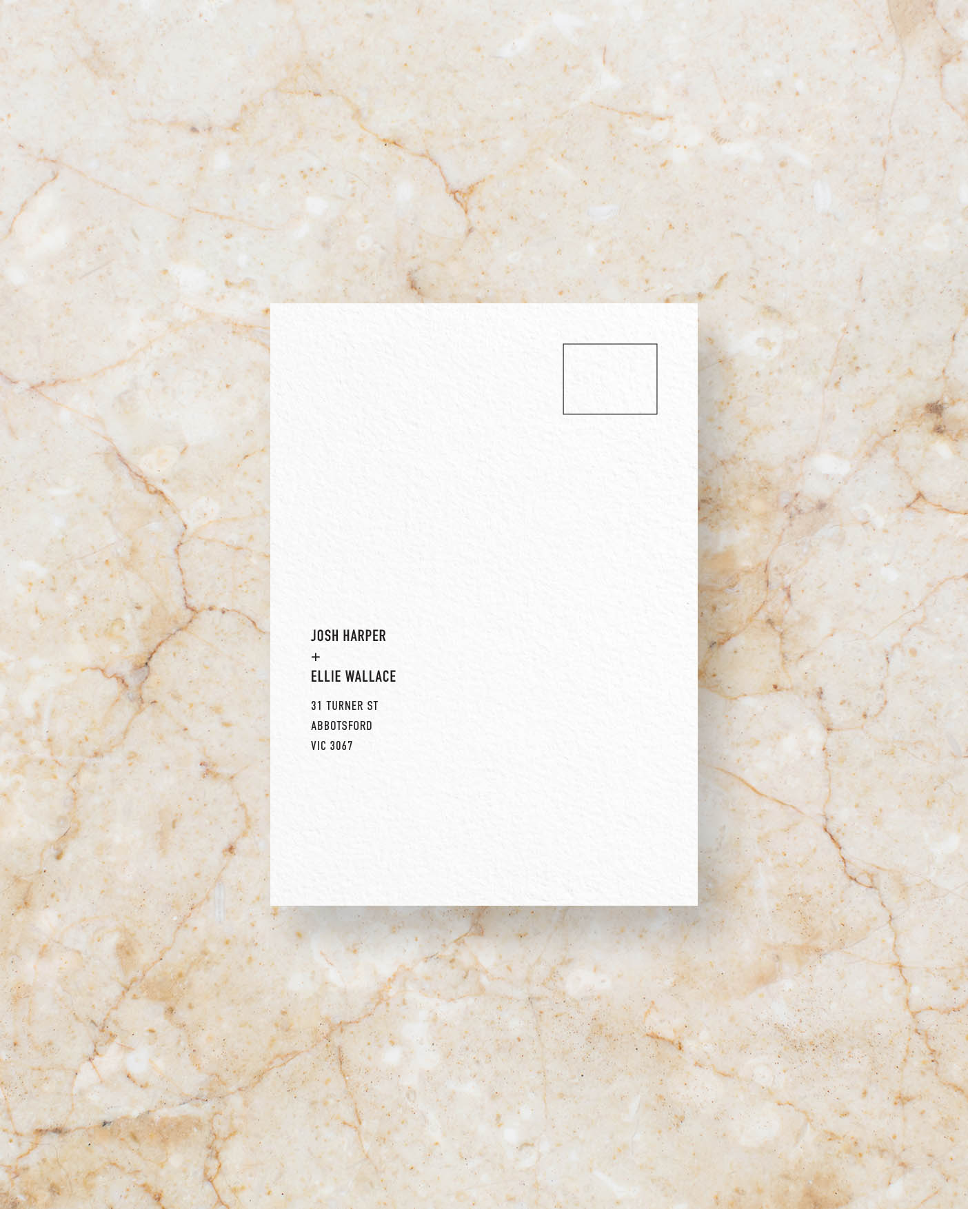 RSVP Card Front - White