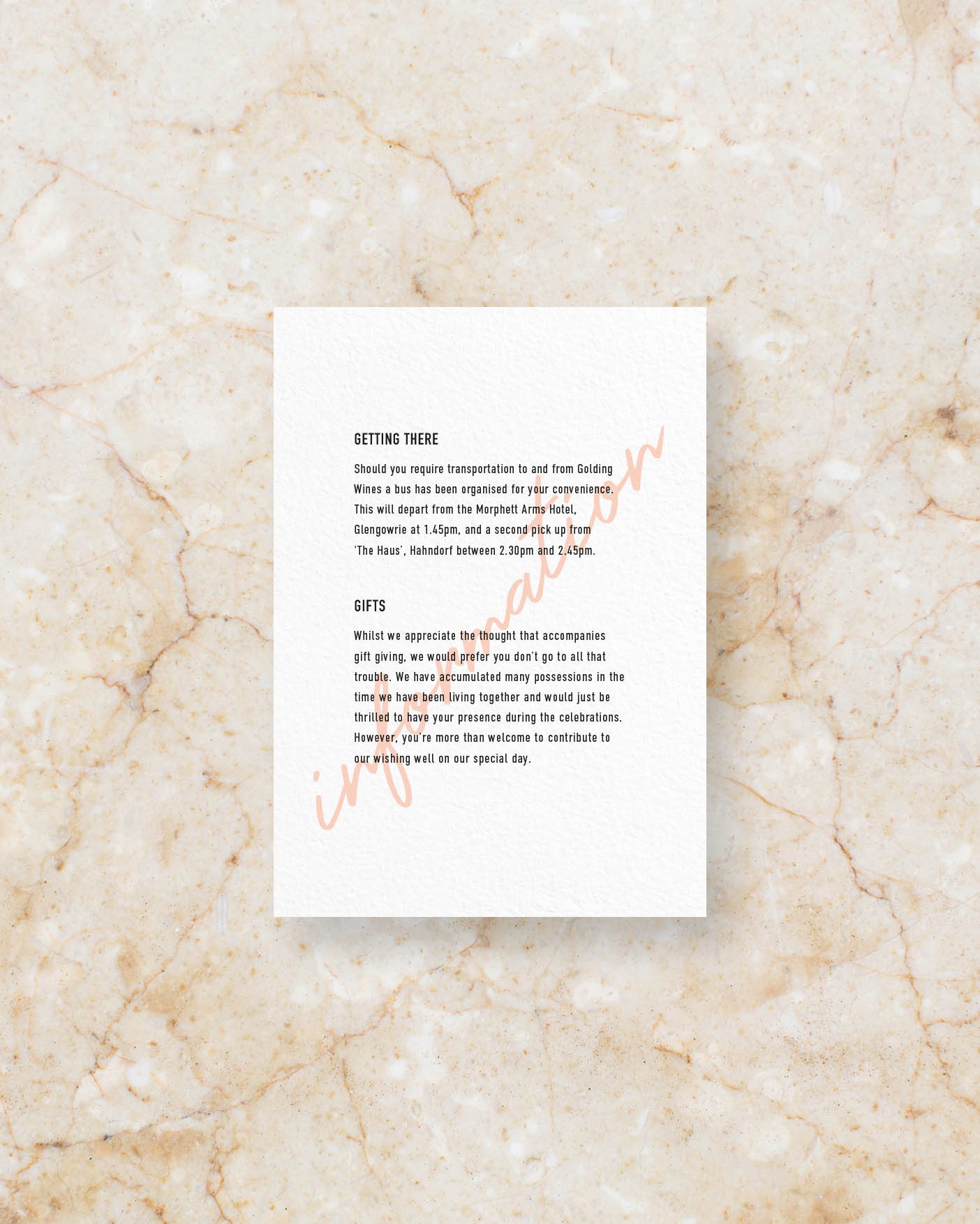 Info Card - White