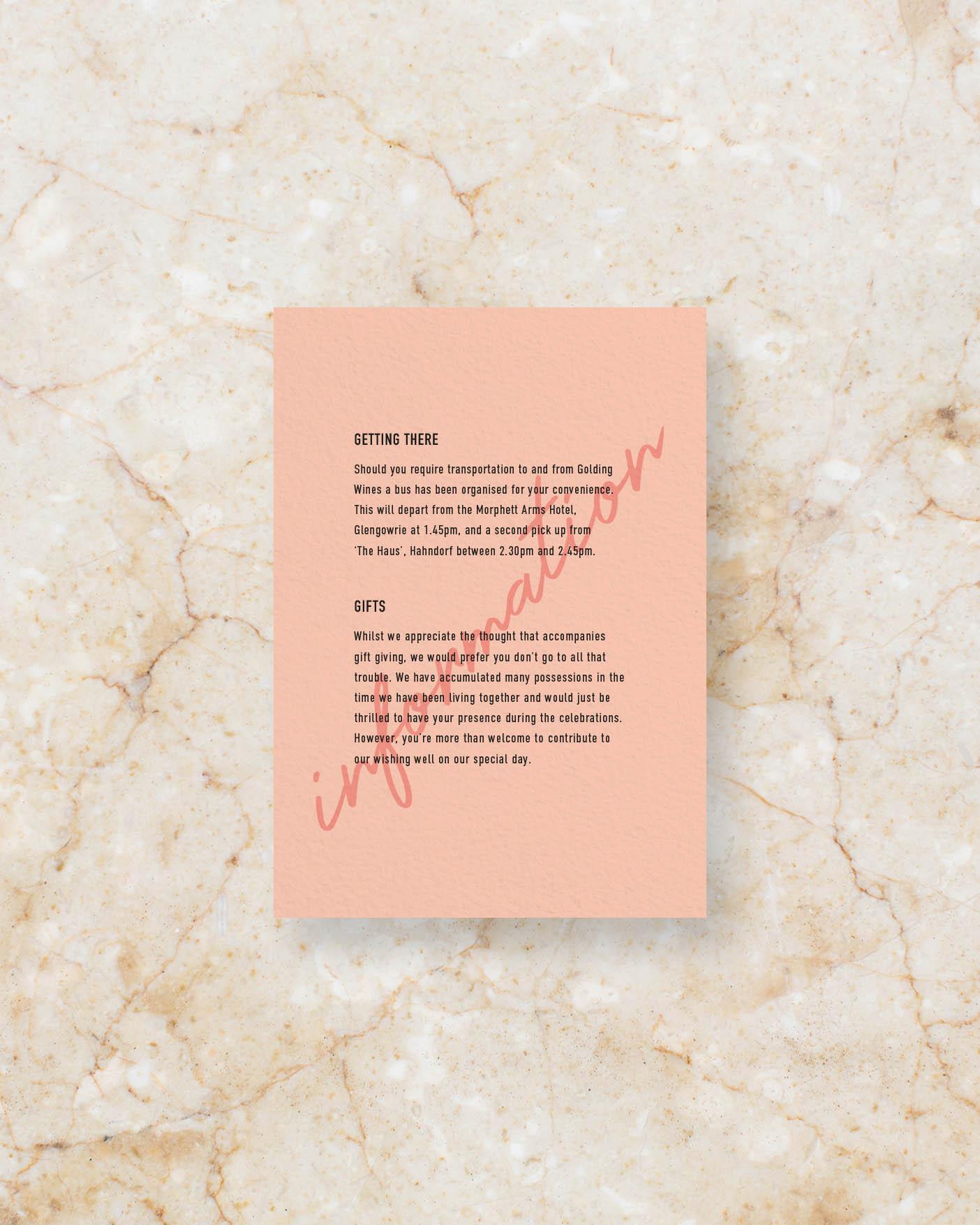 Info Card - Peach