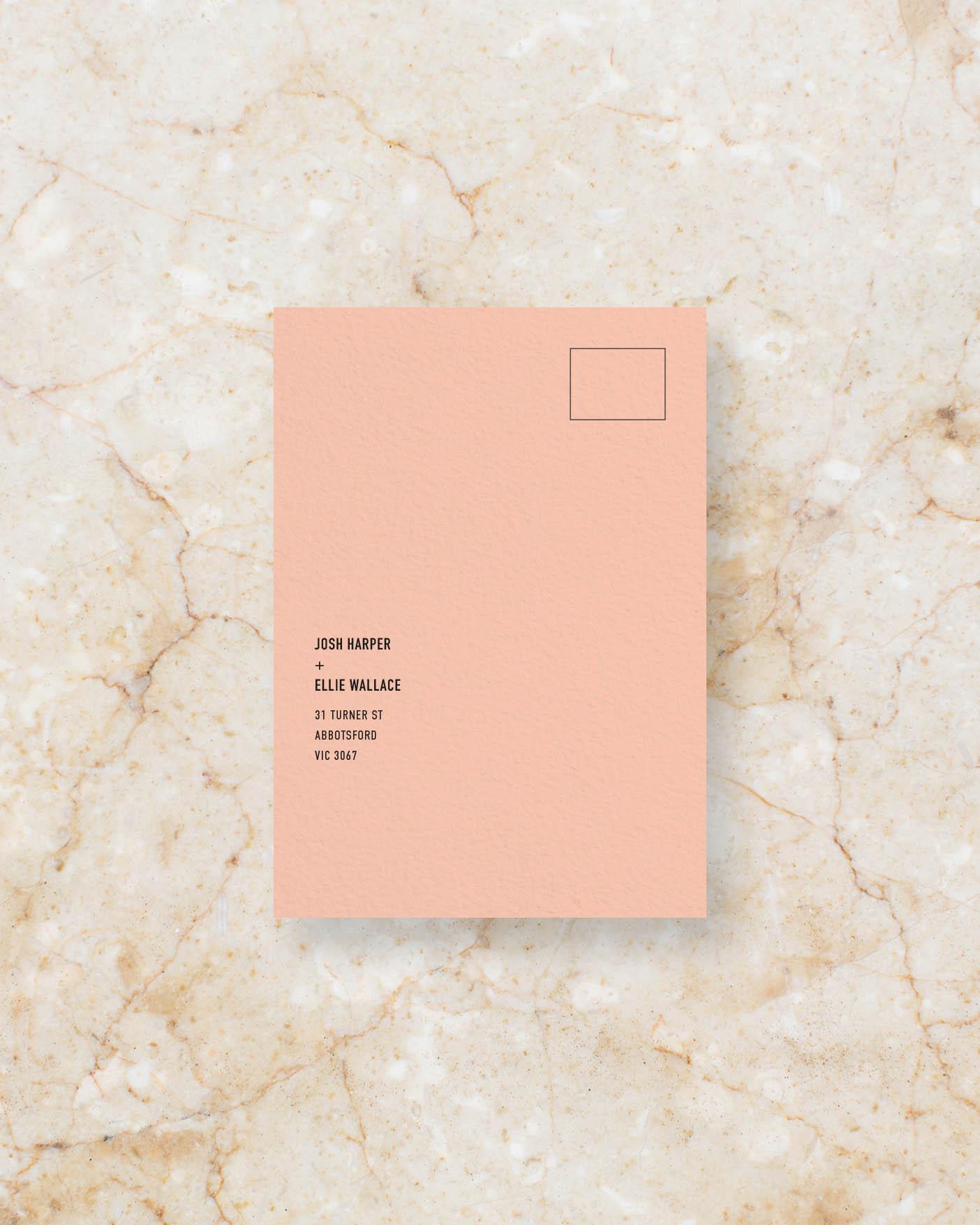 RSVP Card Front - Peach