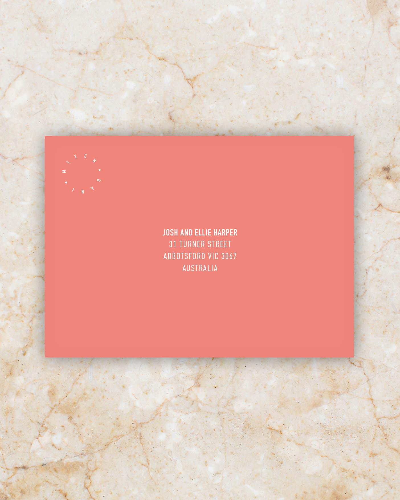 Envelope - Coral