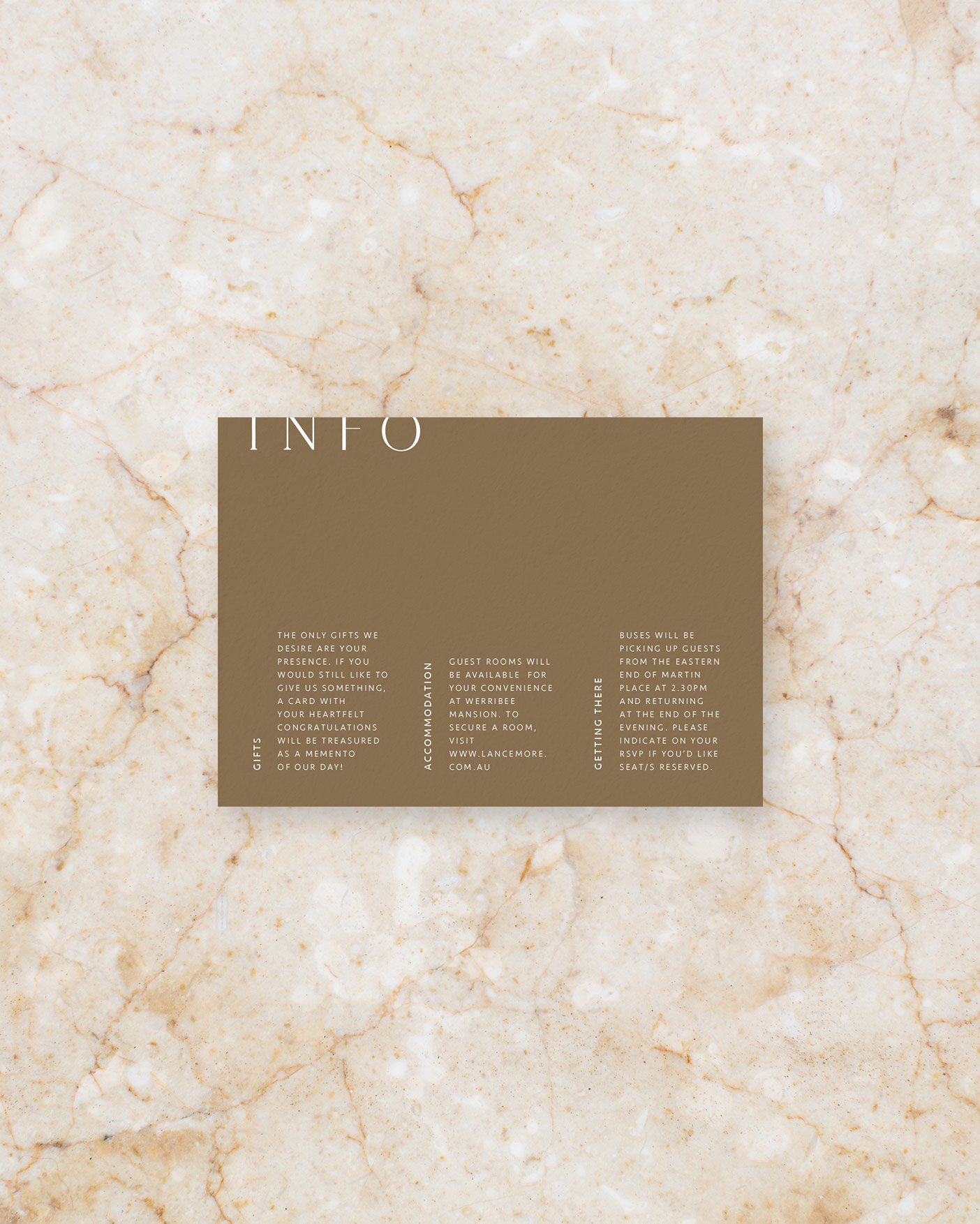 Info Card - Brown