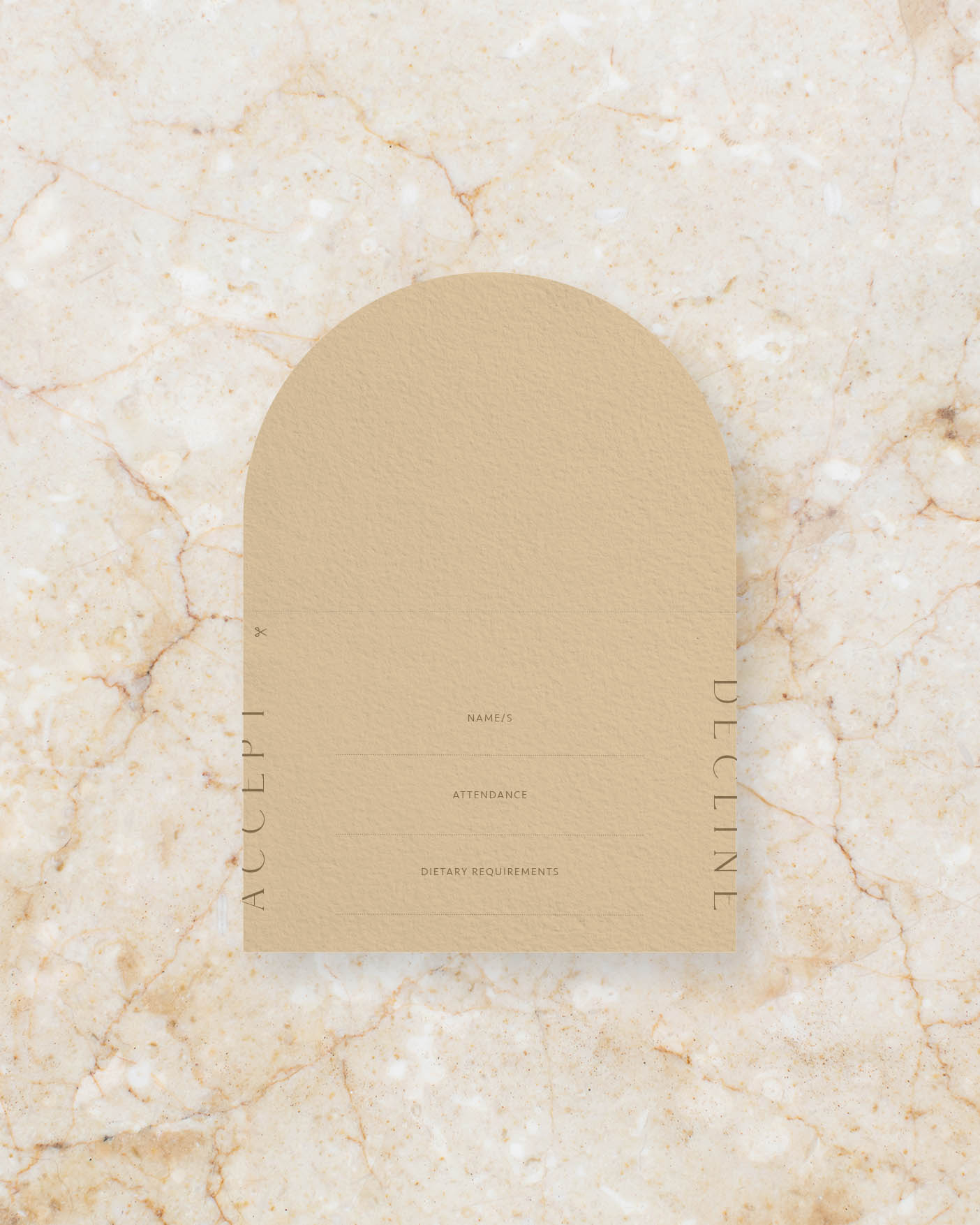Name tag & RSVP card inside
