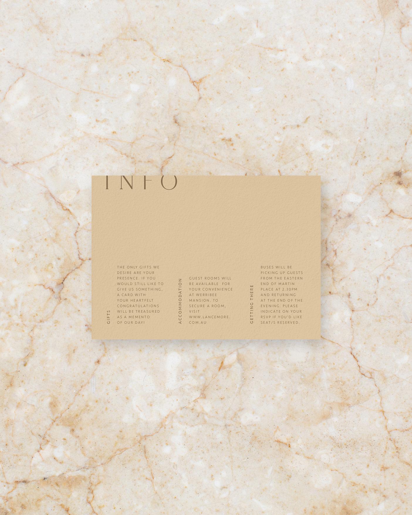 Info Card - Stone