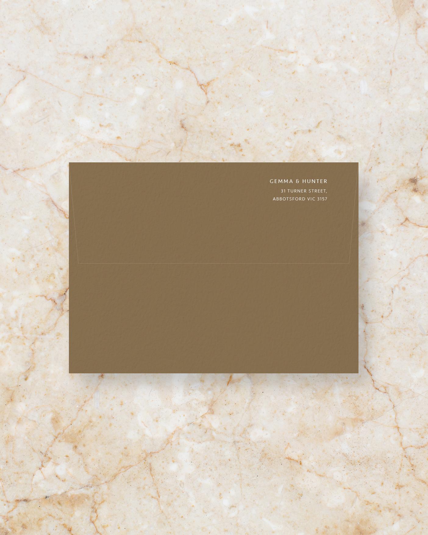 Envelope Back - Brown