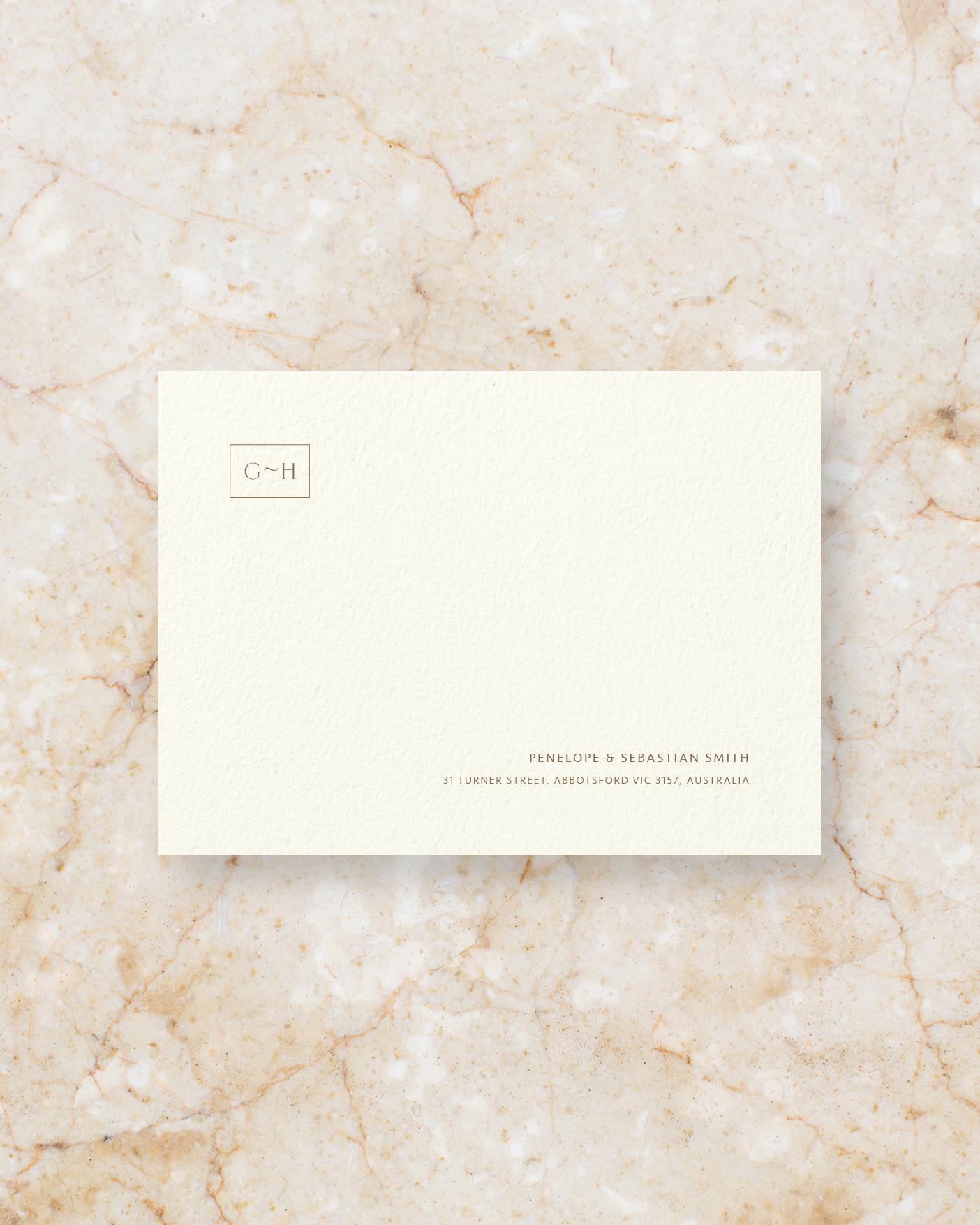 Envelope Front - Ivory