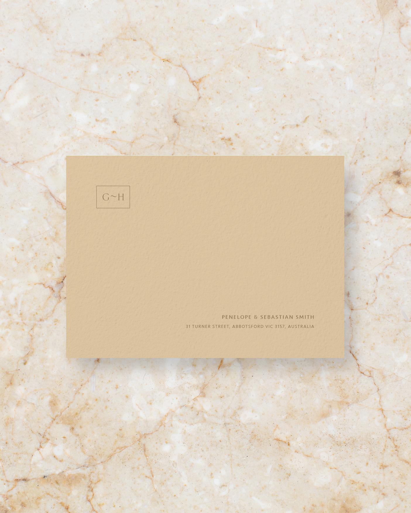 Envelope front - Stone