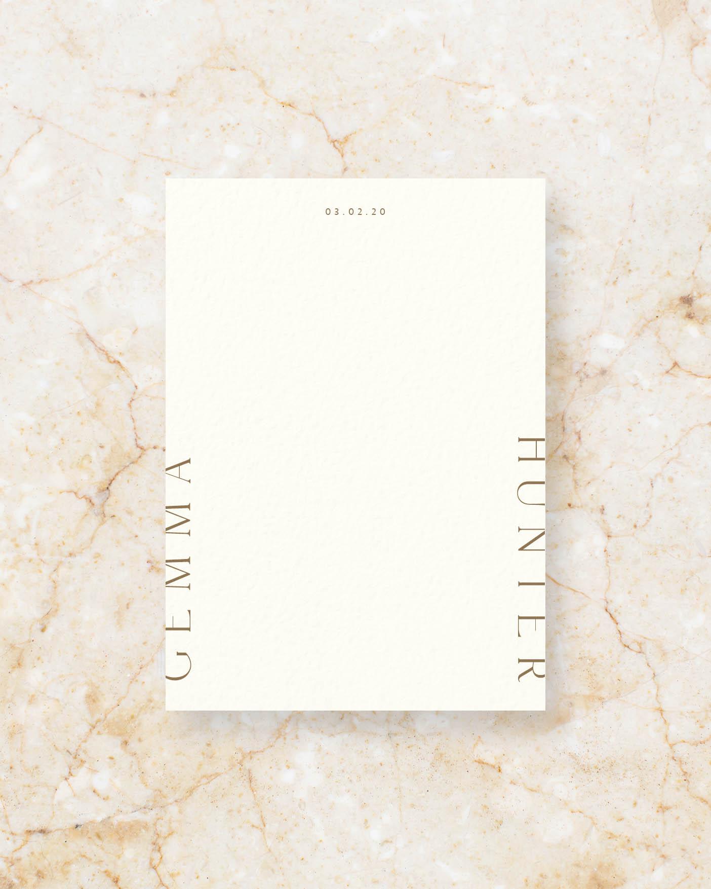 Invite Front - Ivory