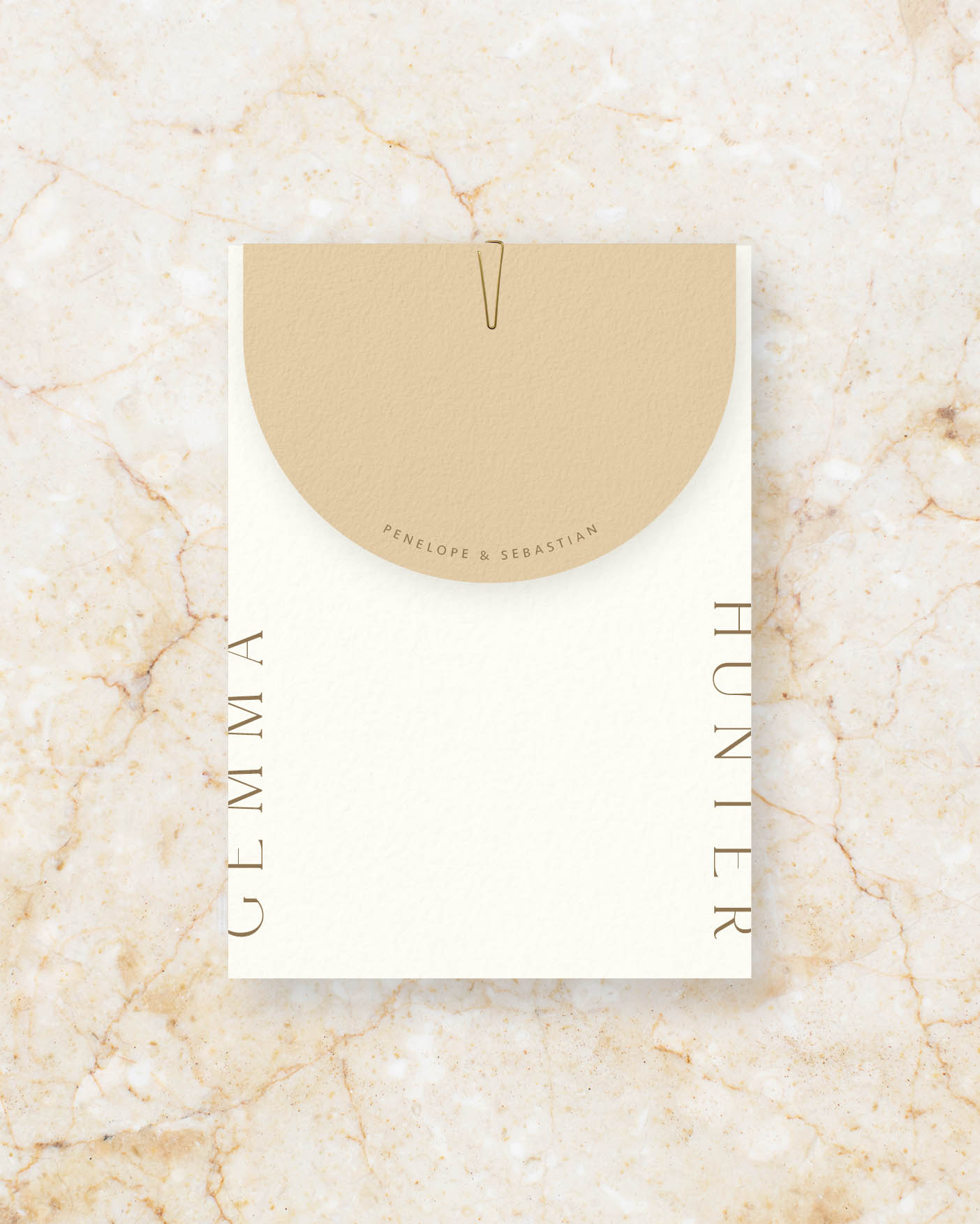 Invite Set - Ivory & Stone