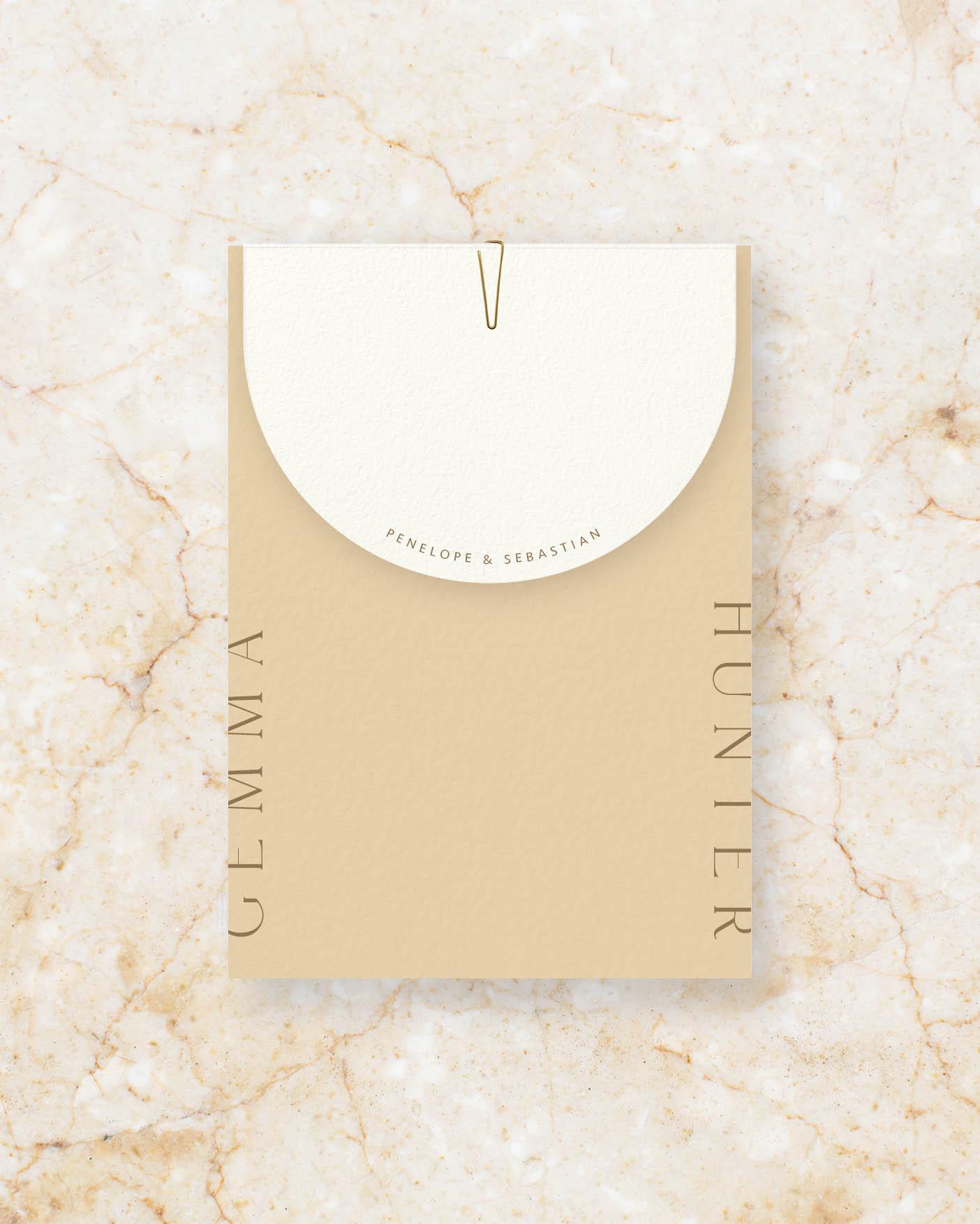 Invite Set - Stone & Ivory