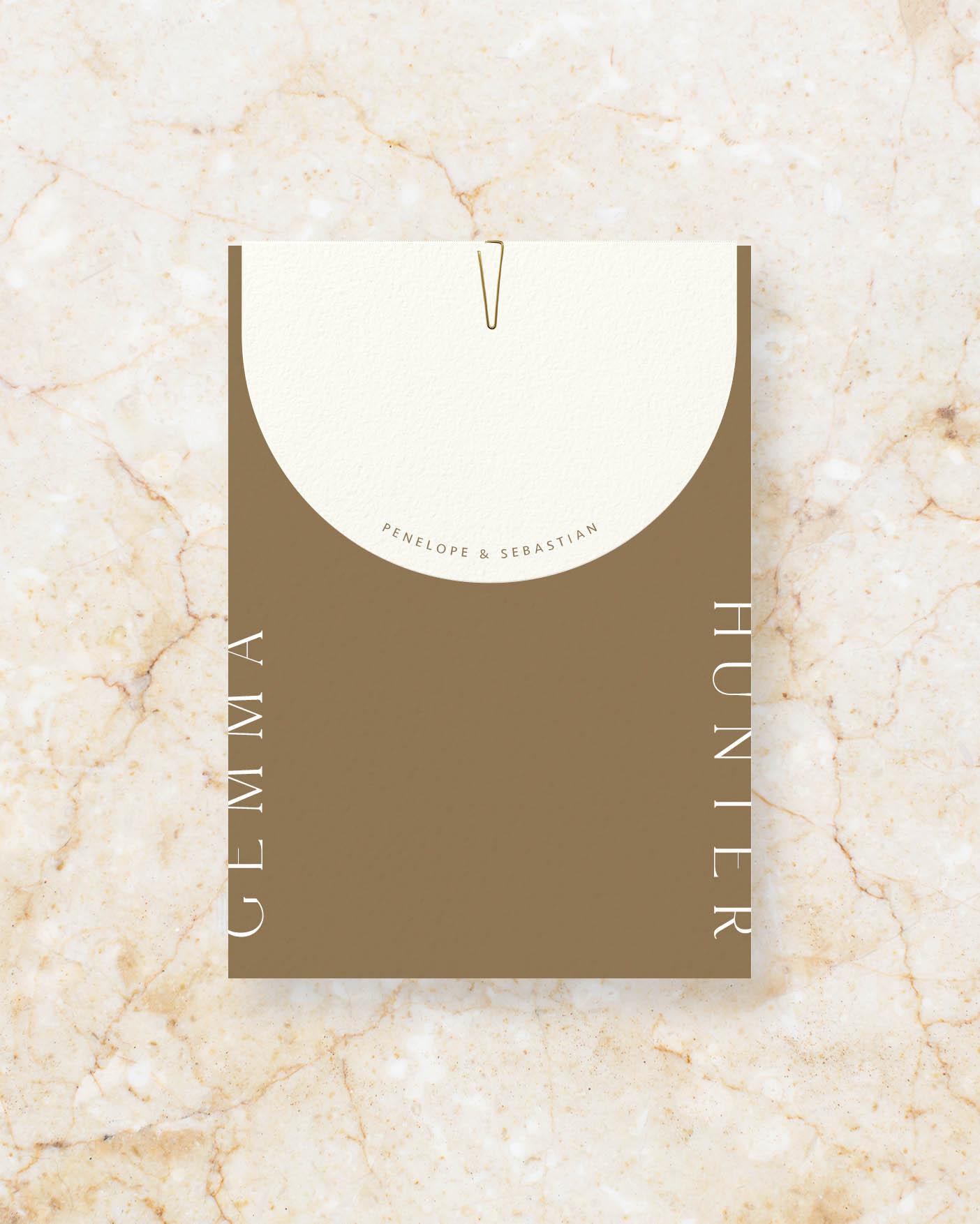 Invite Set - Brown & Ivory