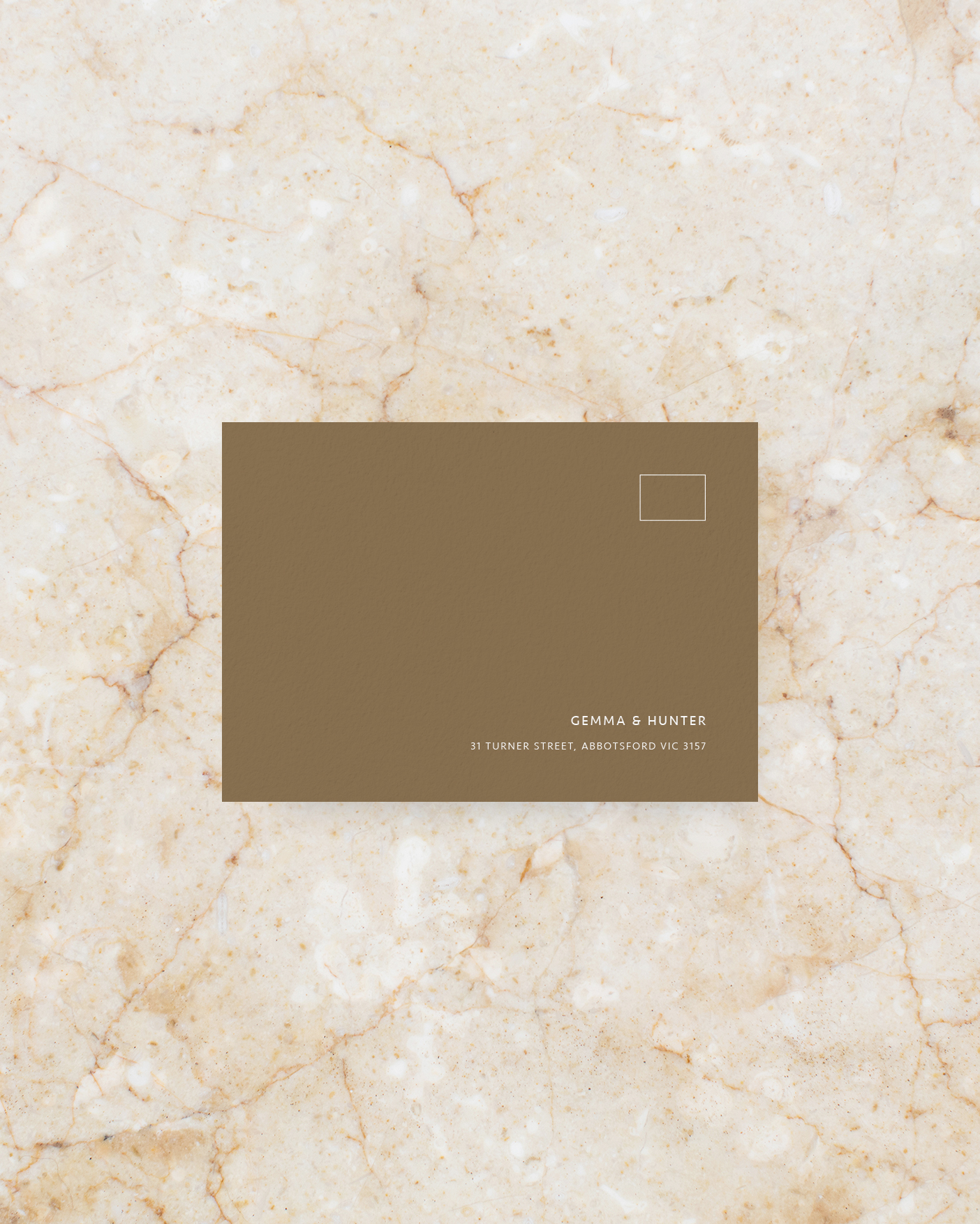 RSVP Envelope - Brown