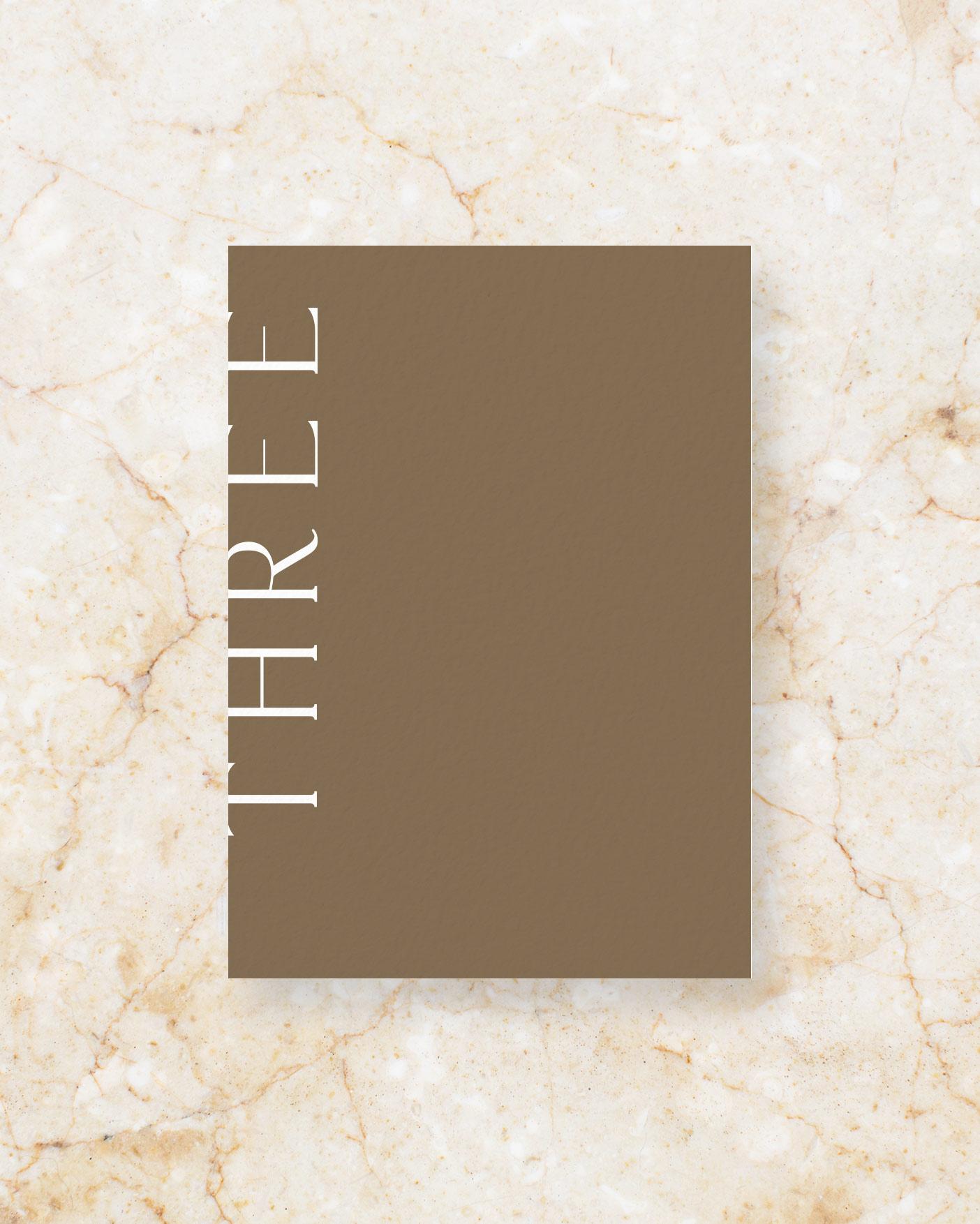 Table Number - Brown