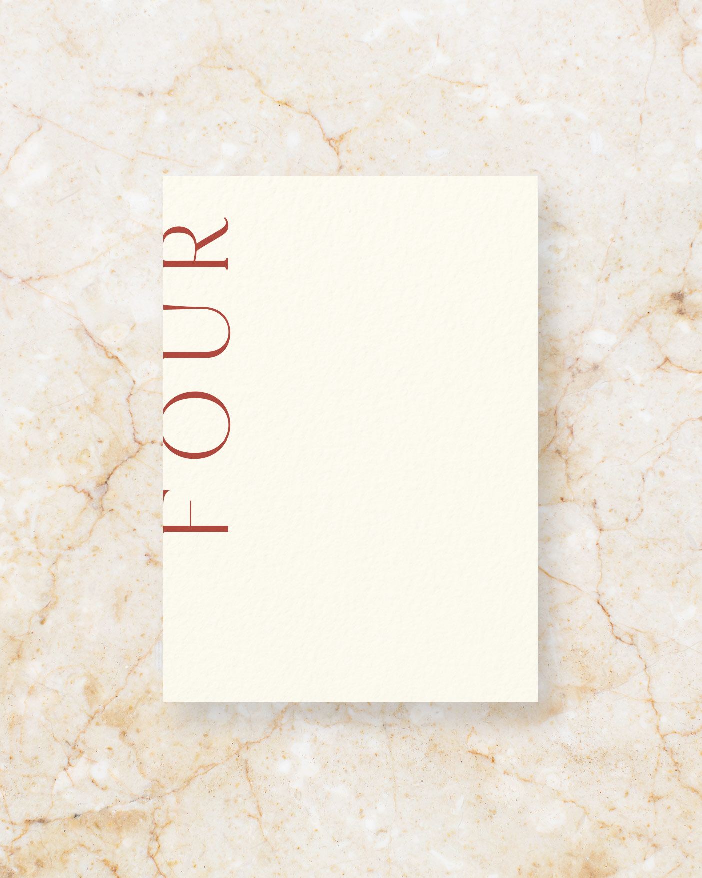 Table Number - Ivory