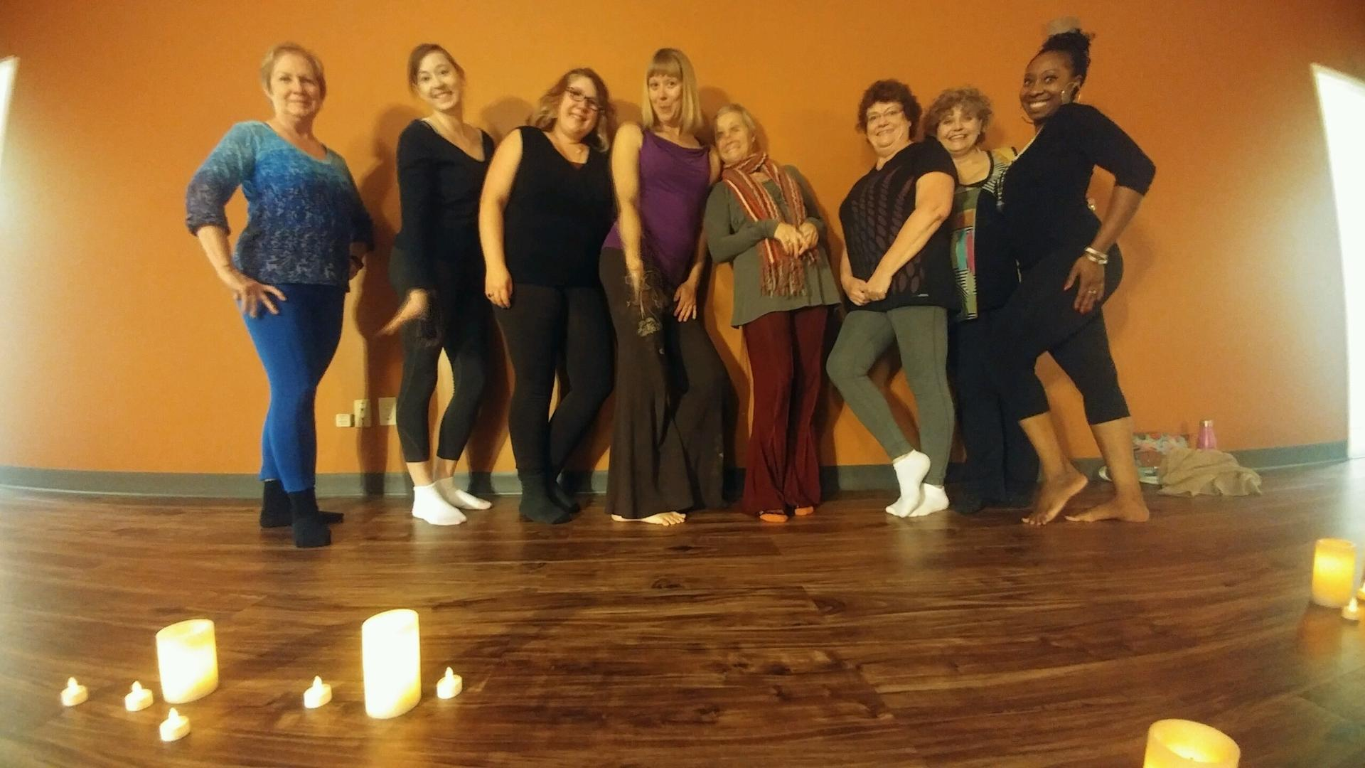First YogiDance Workshop Fall 2016 hosted out of Above Average Yoga Studio in Edmonton, AB.