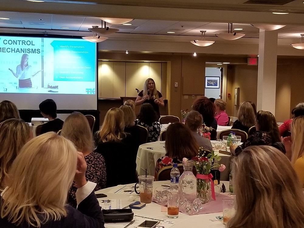 Tara Kinney speaking at the June Nexus event