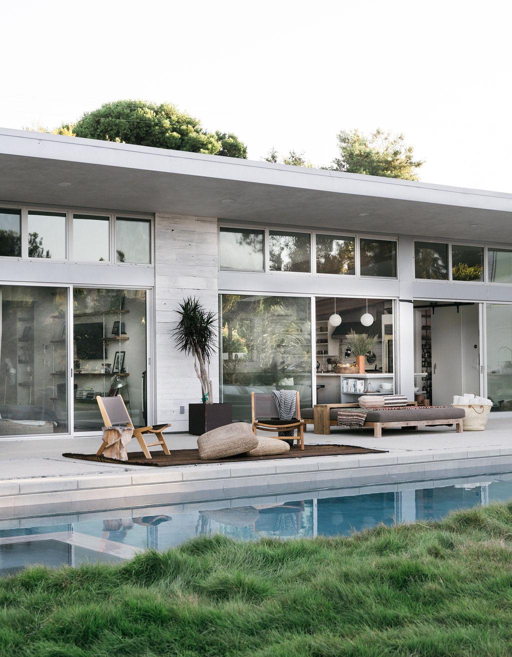 Malibu Farmhouse by Burdge & Associates Architects. Pool & modern farmhouse design.