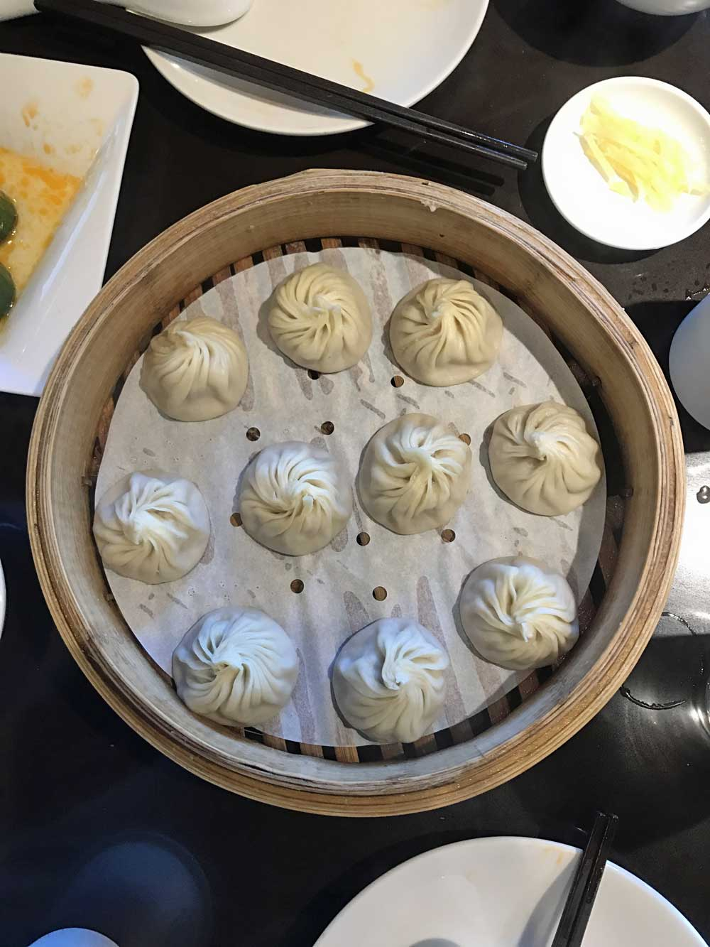 My Xiao Long Bao feast (left), a and few DTF artists (right).