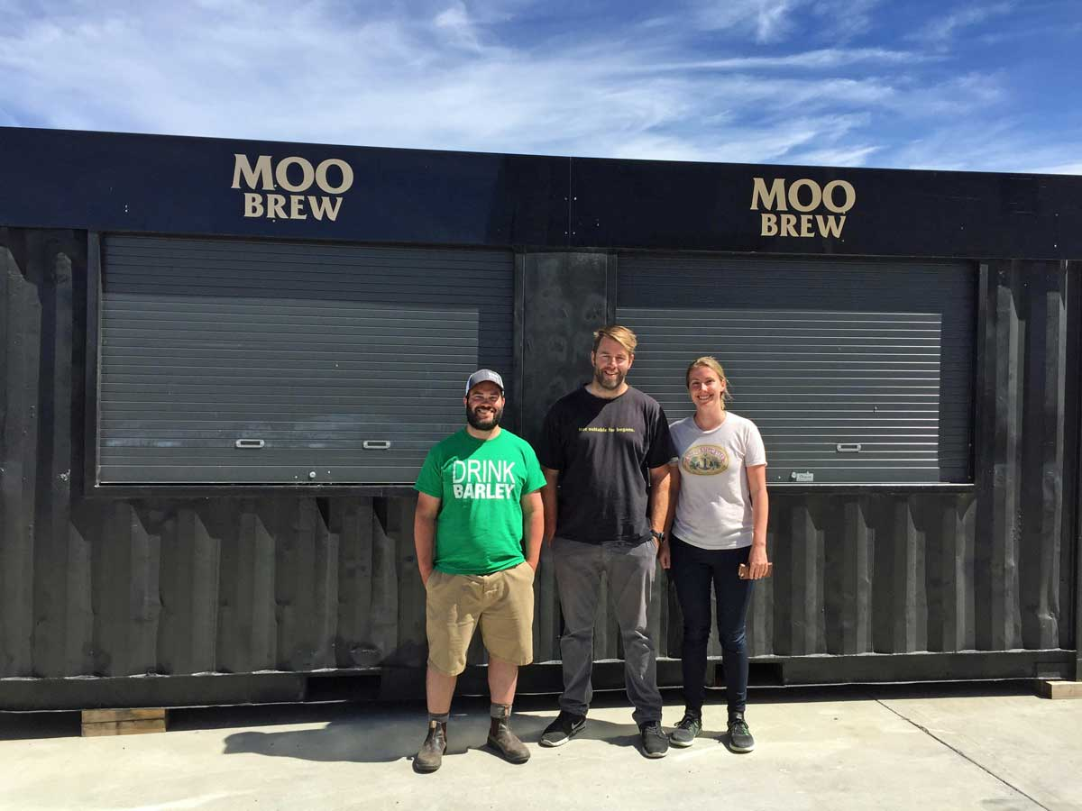 Matt, Dave, and I at Moo Brew.