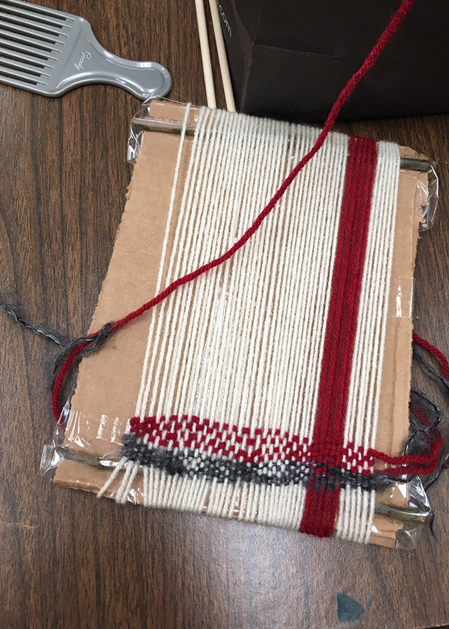 hand-made loom by student in the NCJWNY Council Lifetime Learning Center weaving studio, 2018