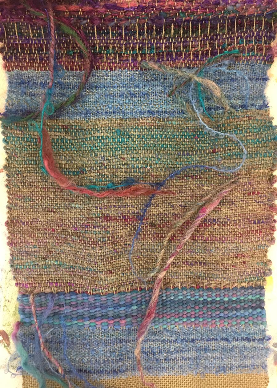 student work sample, Weaving 101, Textile Arts Center, 2018