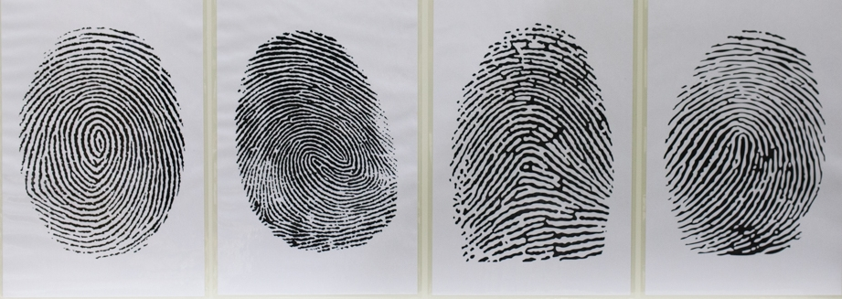 Fingerprints are fascinating. Teachers had to identify what patterns corresponded to the labels in order to find the 4-digit combination.